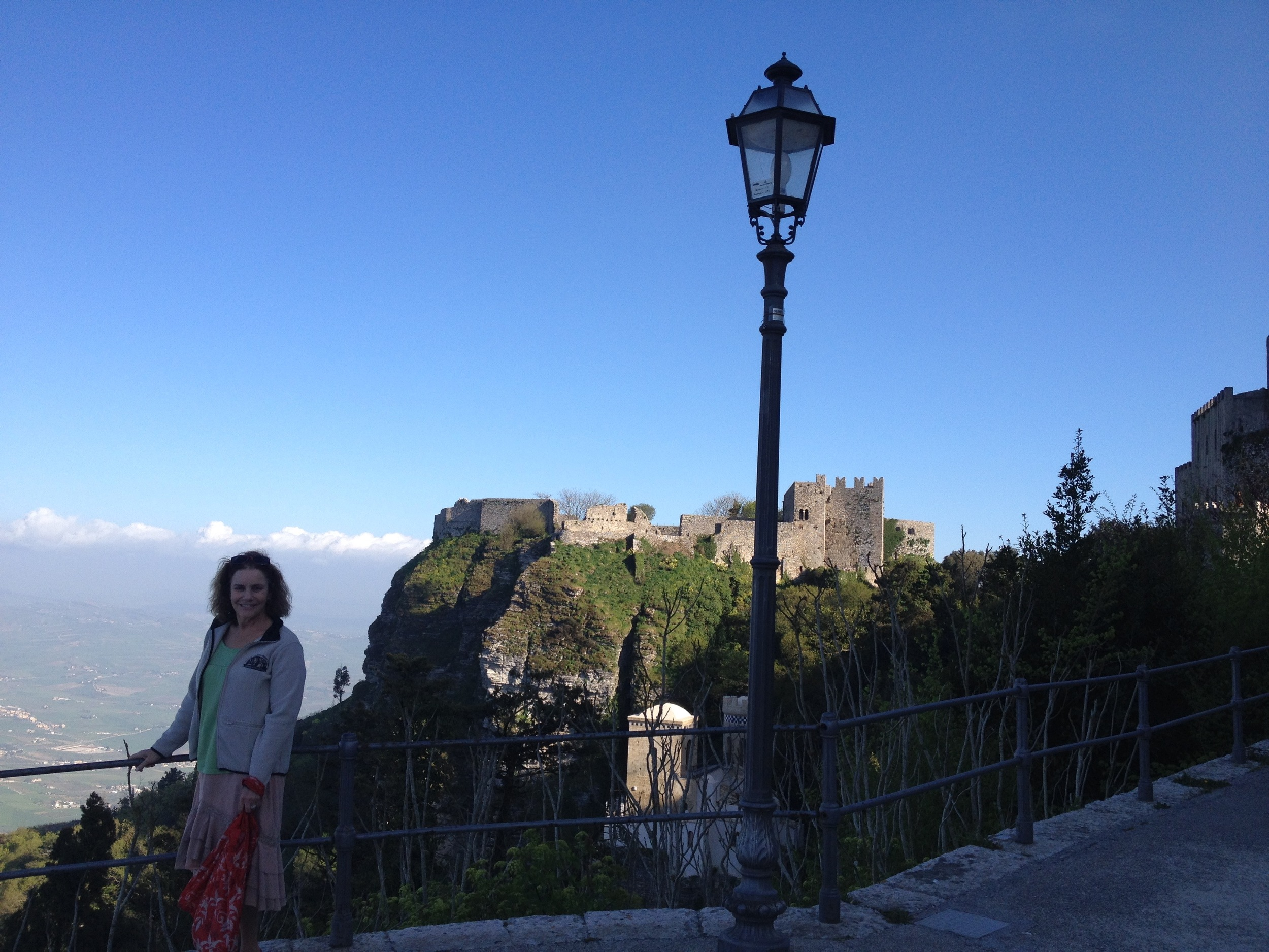 High up in the clouds in Erice with views as if you were piloting a plane.