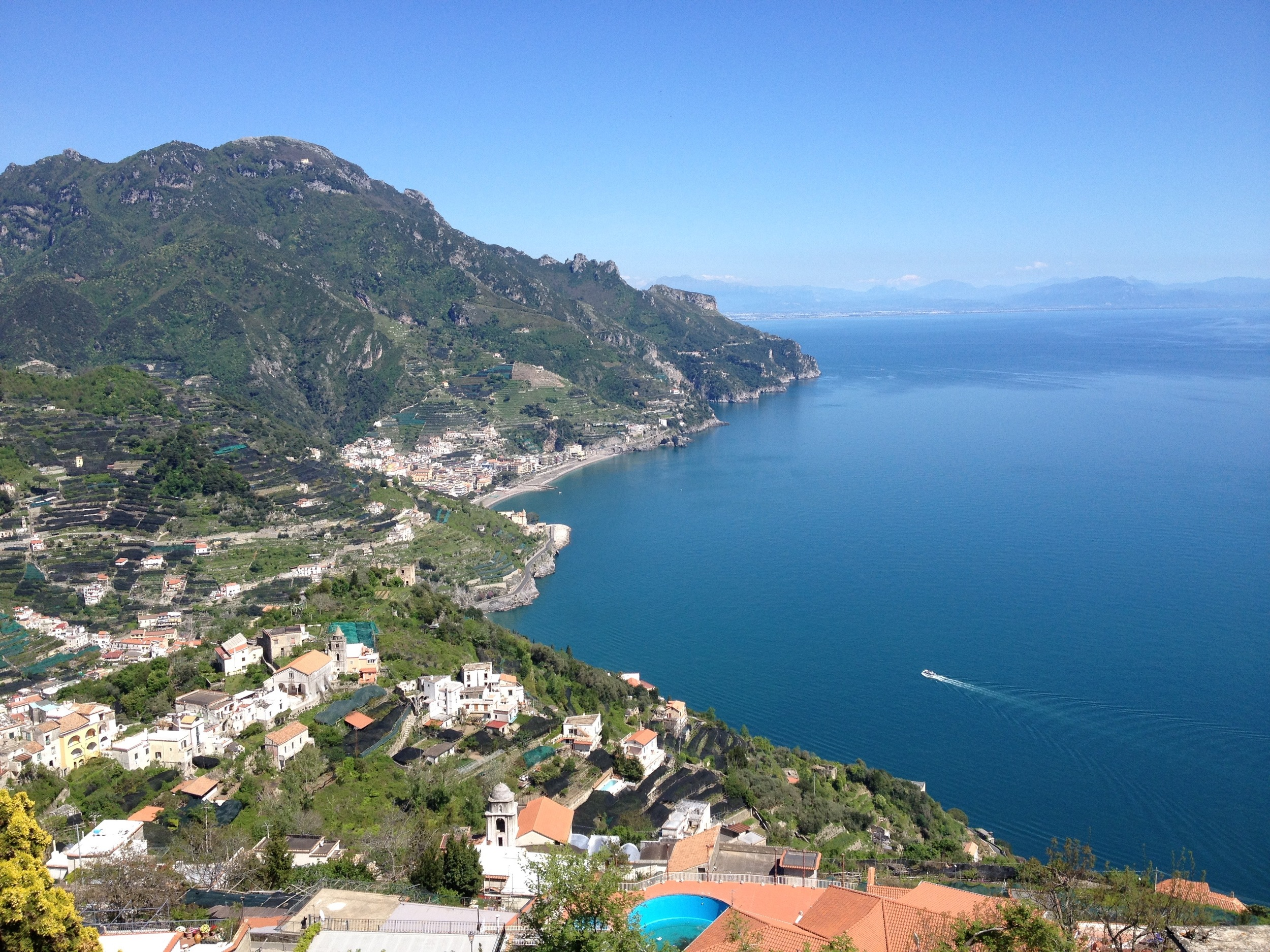 The view from Ravello high up above the Amalfi coast