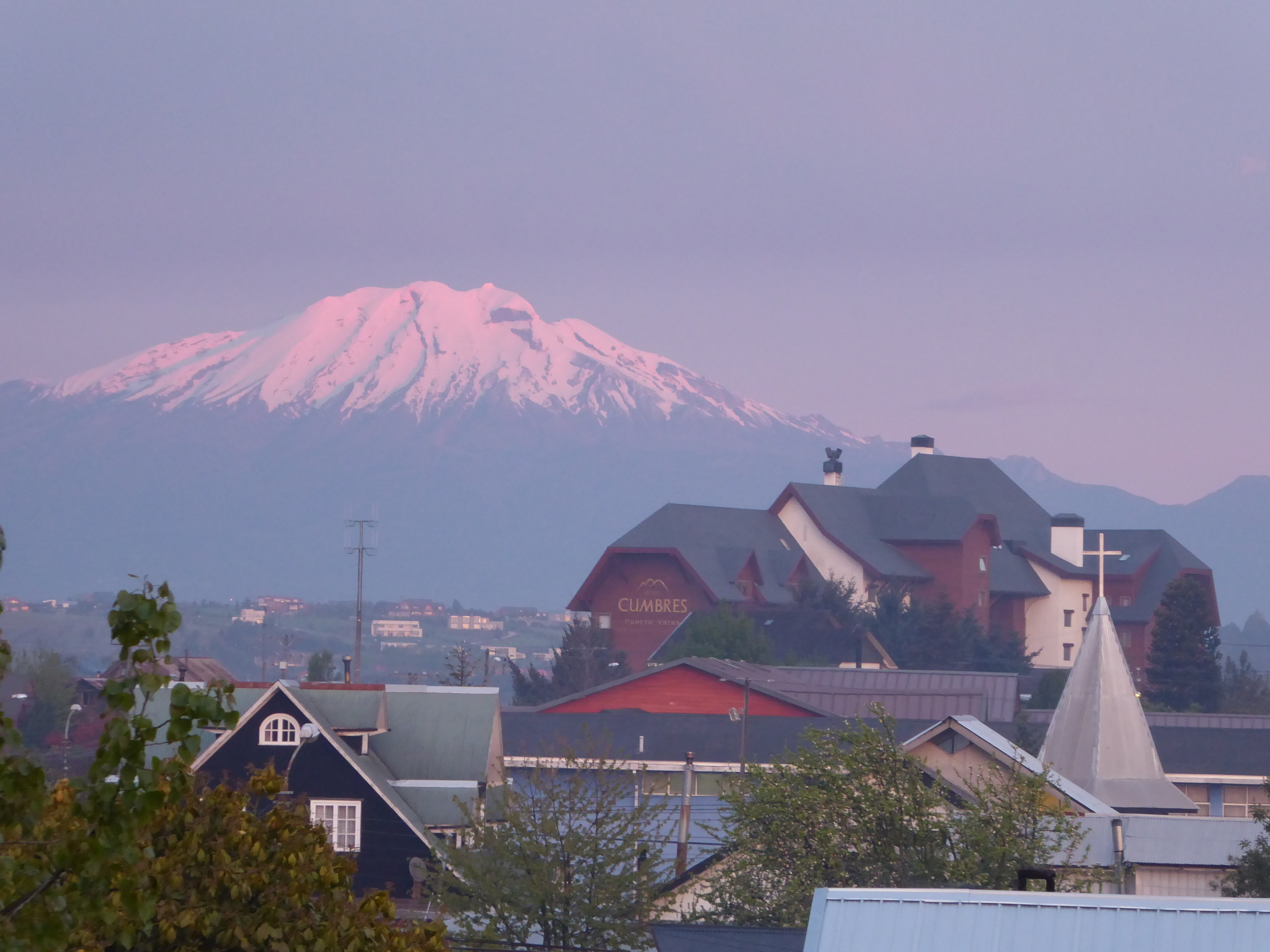 Volcanic view from our hotel room.