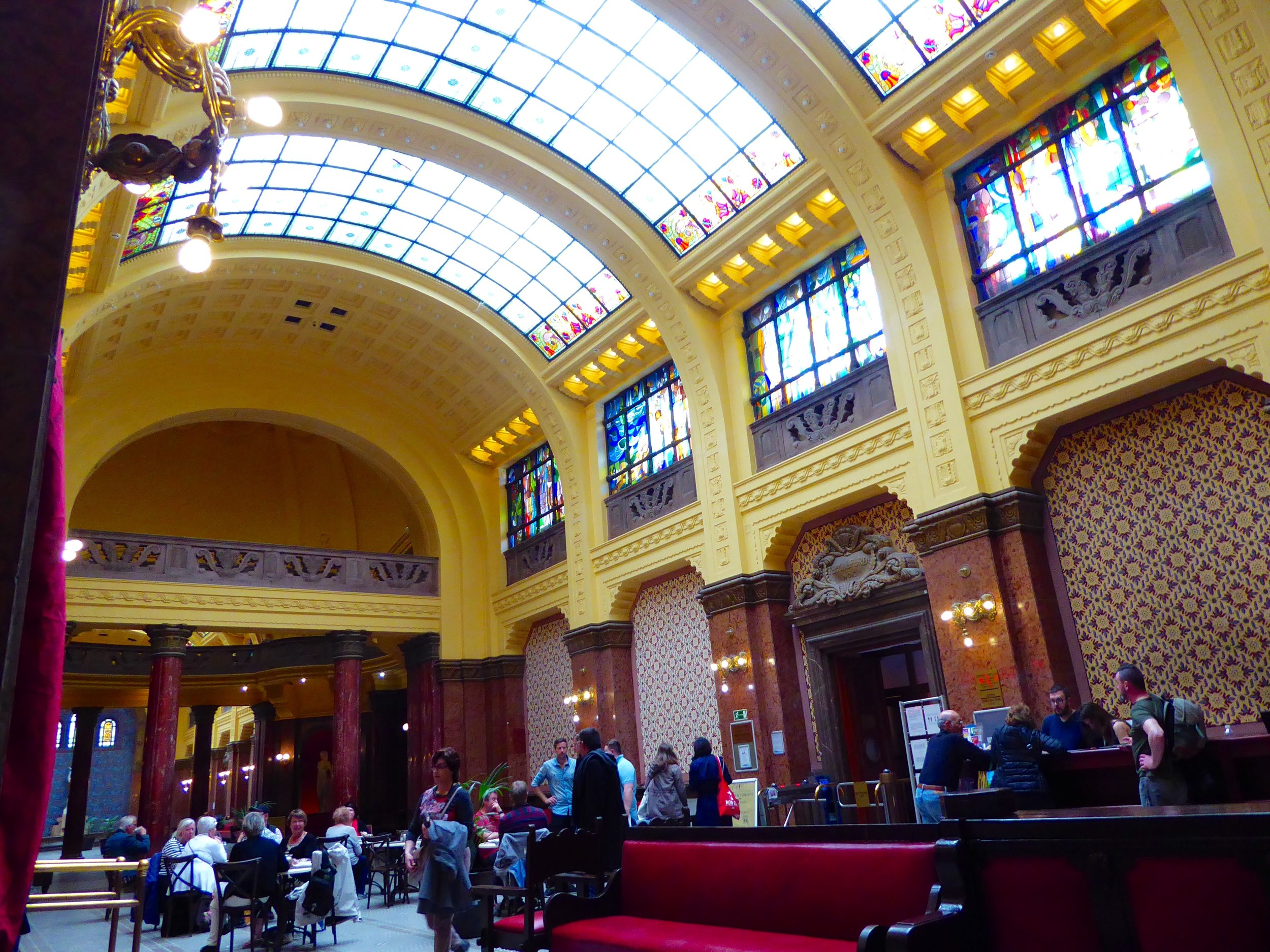 The lobby of the Gillert Hotel.
