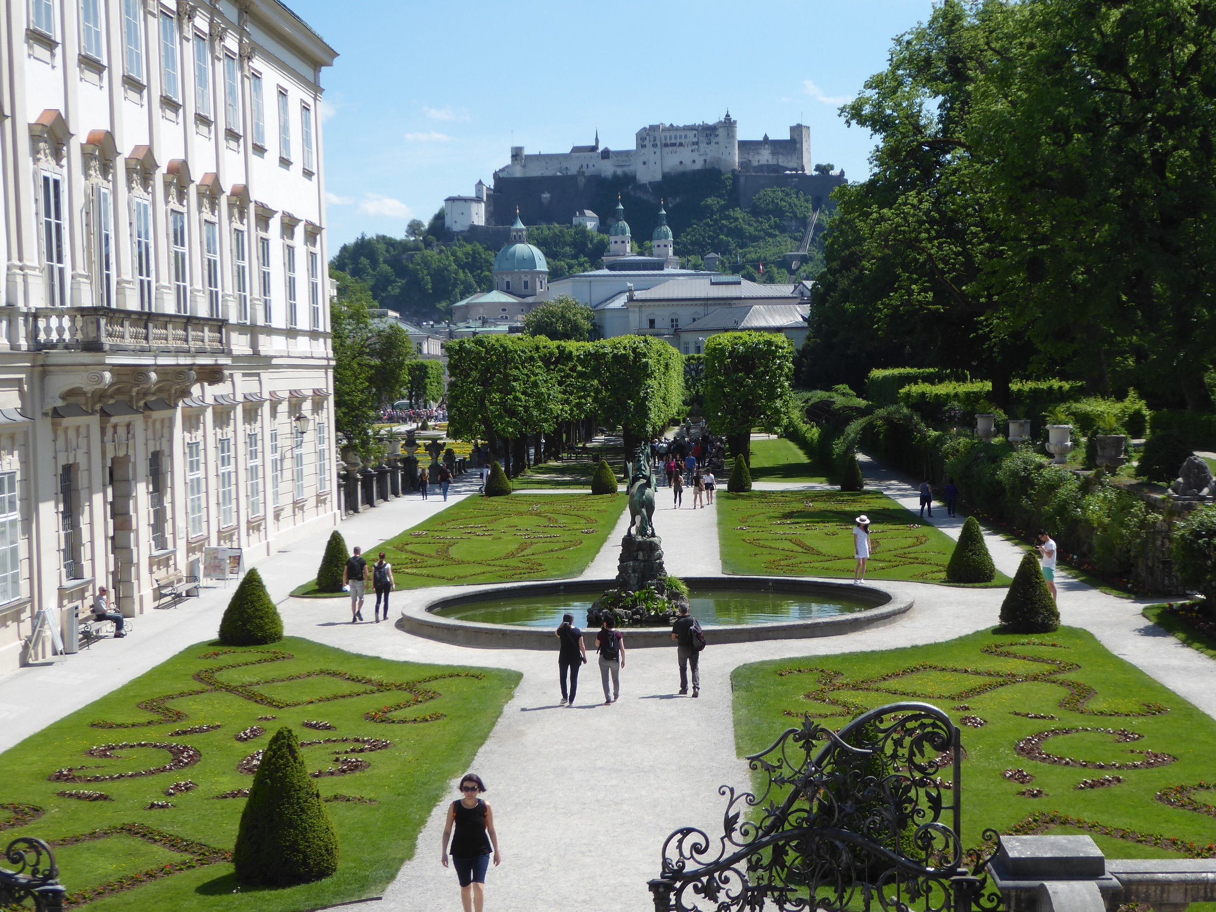 salzburg from the Mirabell gardens.