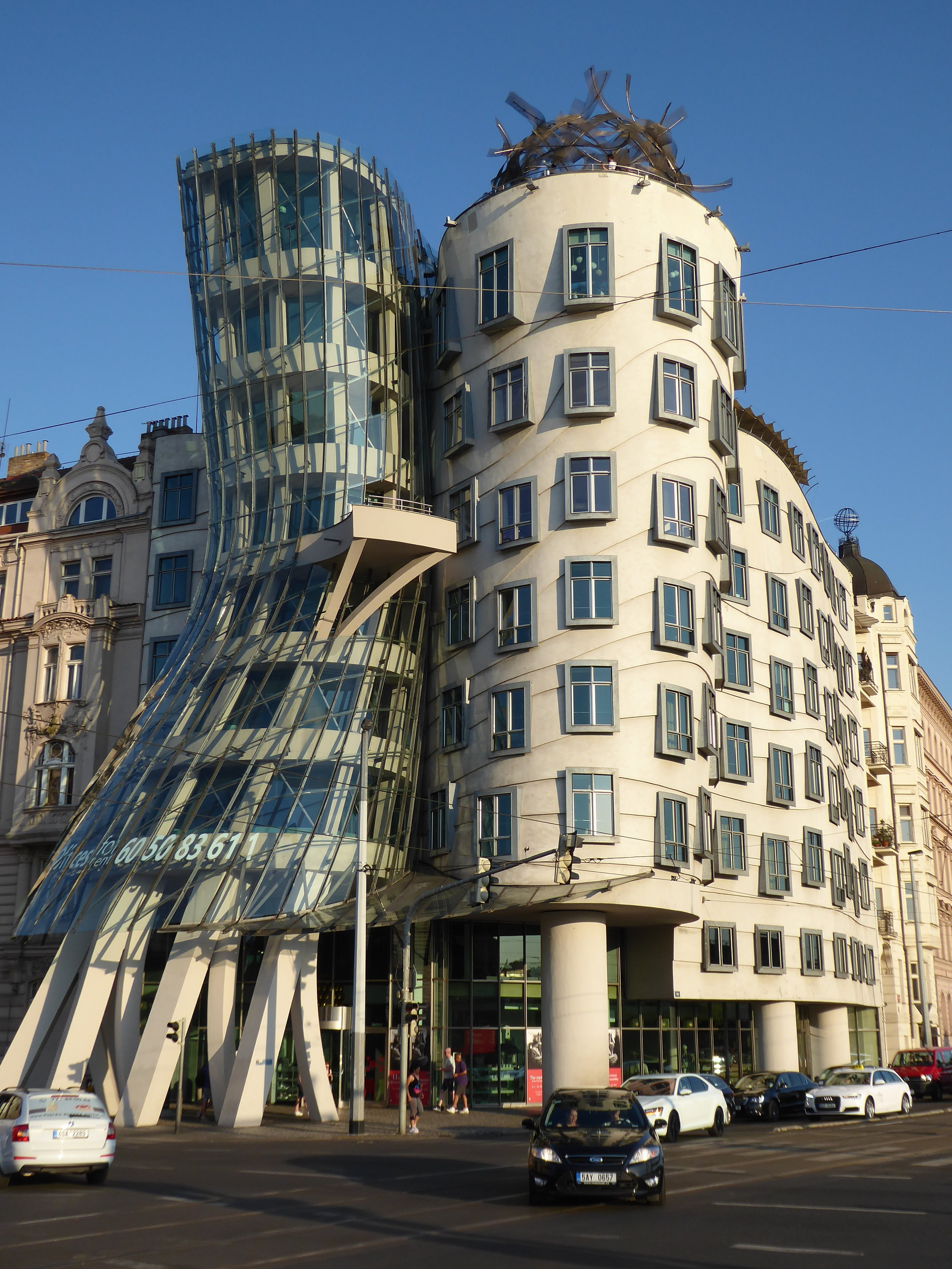 """Sometimes referred to as the """"Fred and Ginger"""" building (Astaire & Rodgers), Frank Gehry was one of its architects."""