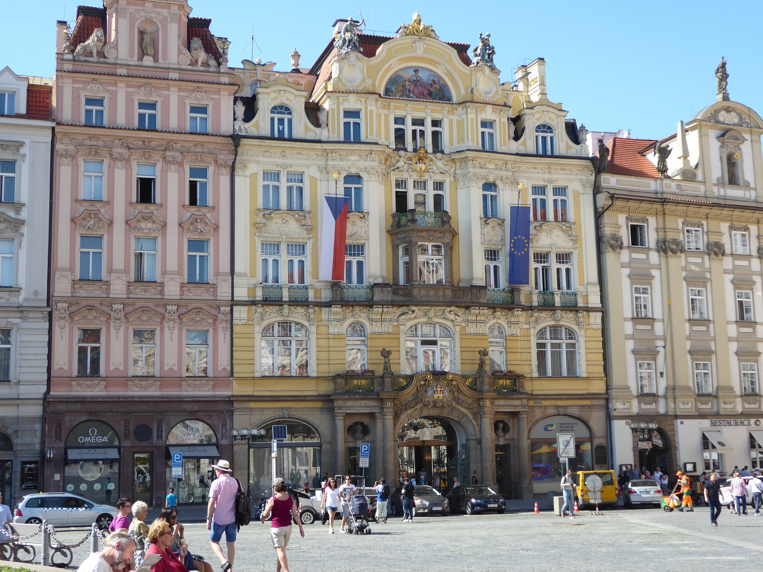 Old Town Square. There always seems to be lots of music and street performers here entertaining the crowds.