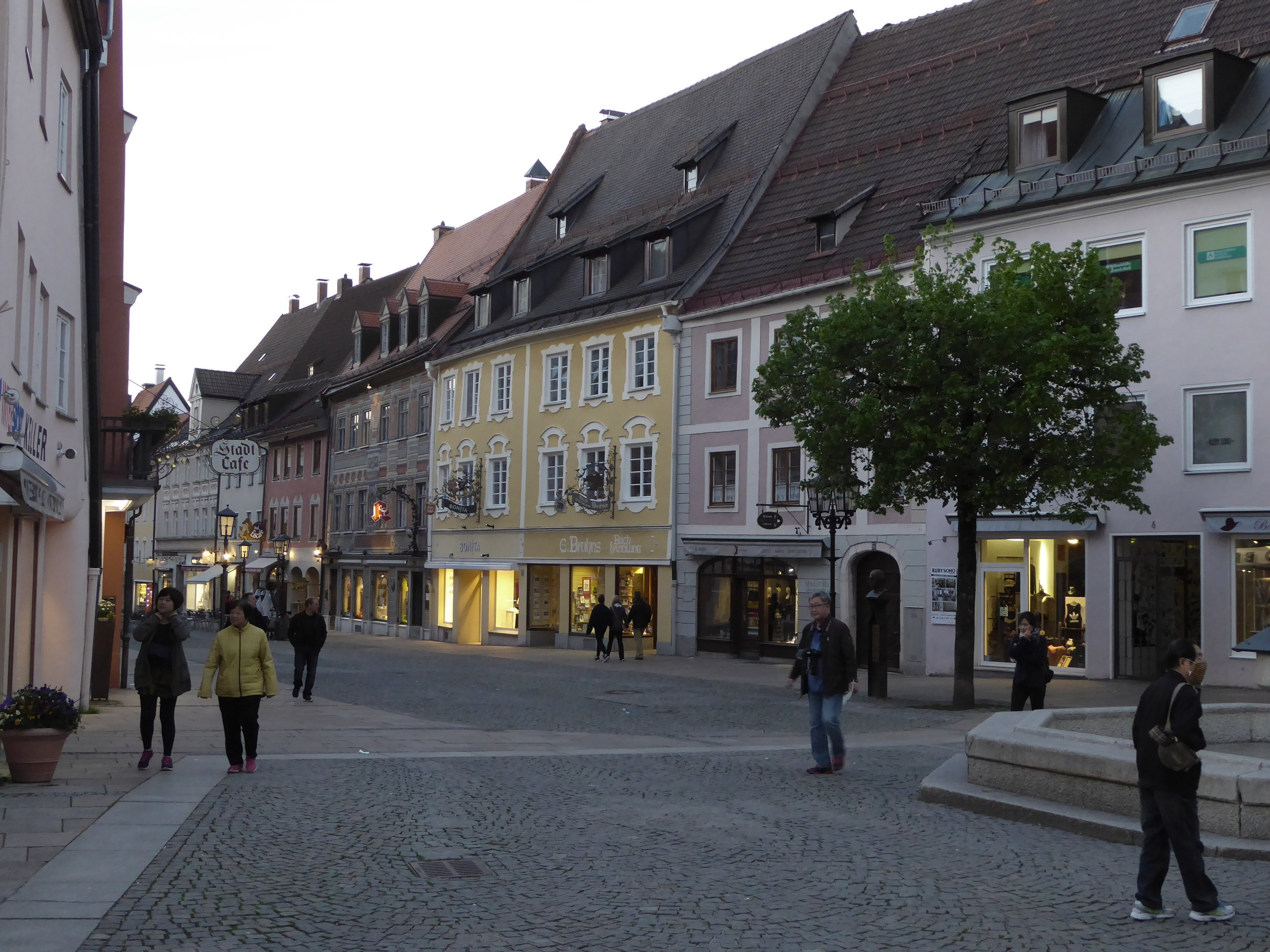 Füssen at dusk. A much quieter town after the big cites we have been visiting.