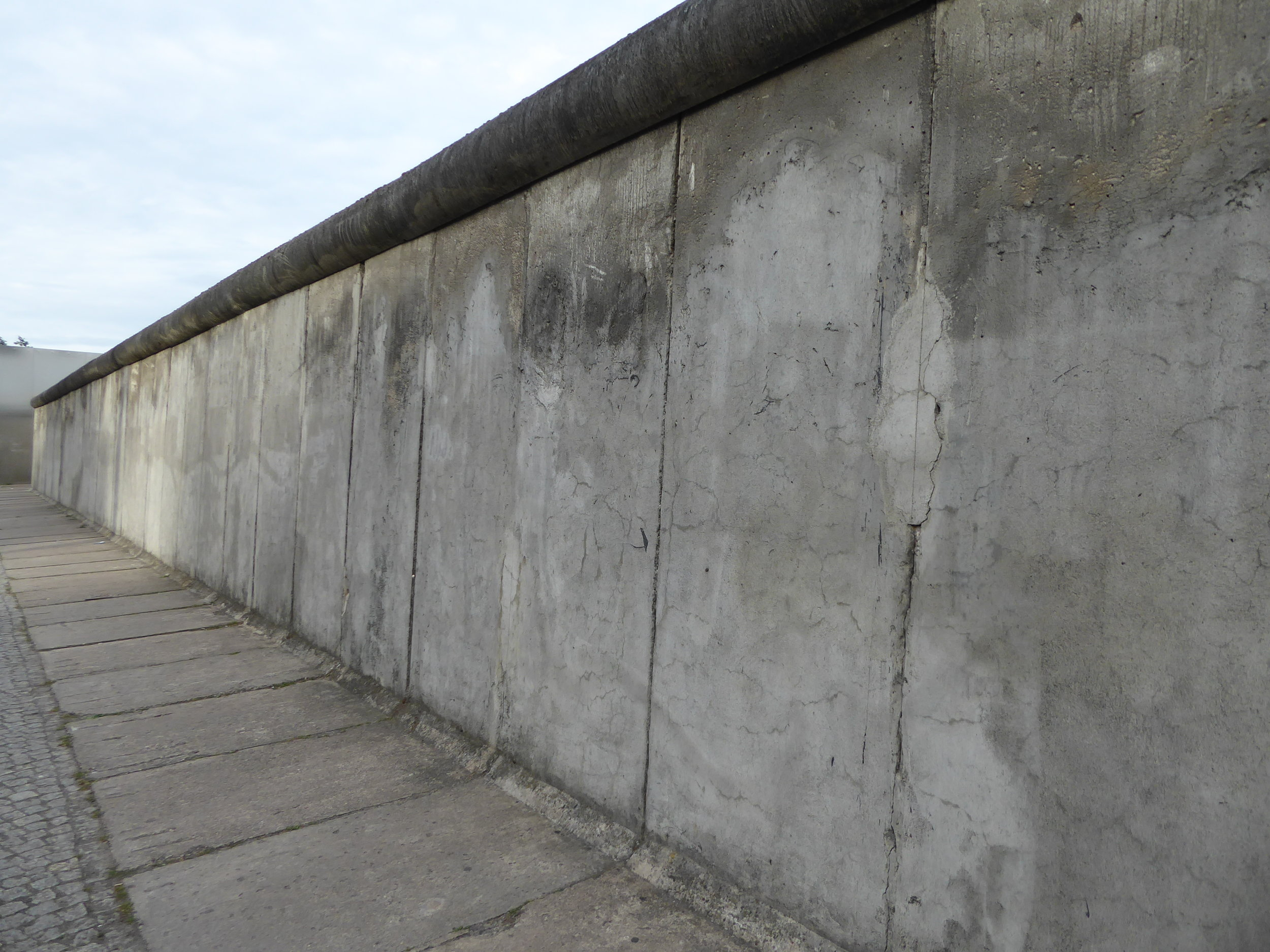 A section of what's left of the Berlin Wall. Hint: the wall didn't work out so well in the end.