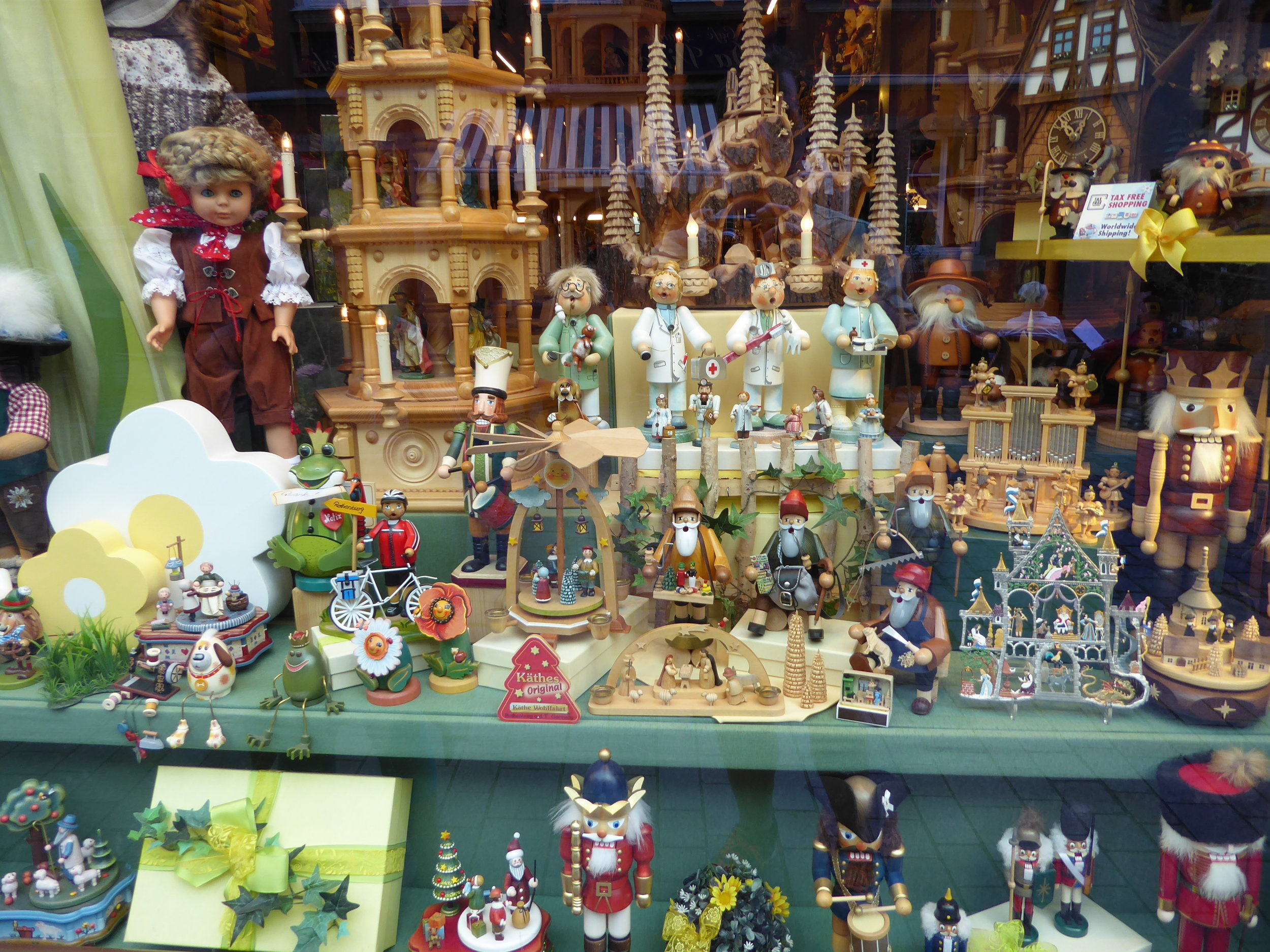 Toy store window in Rothenburg.