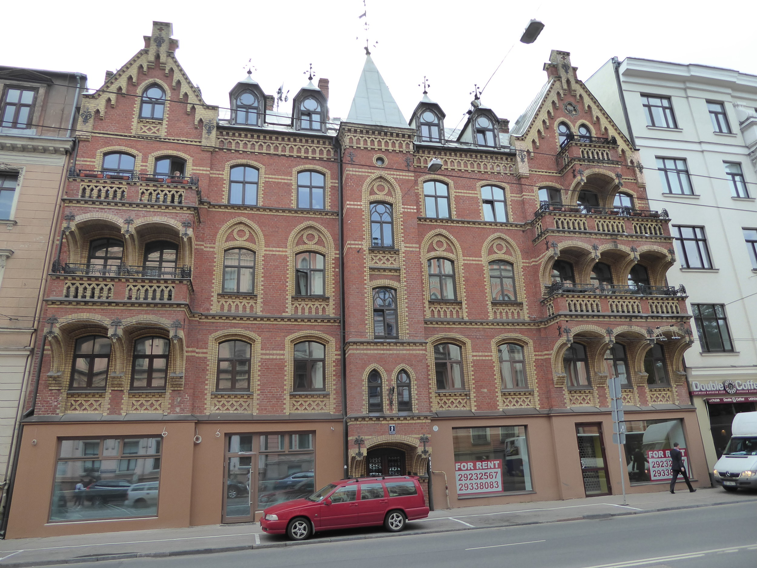 A morning walking tour takes us past these art nouveau style buildings in Riga.