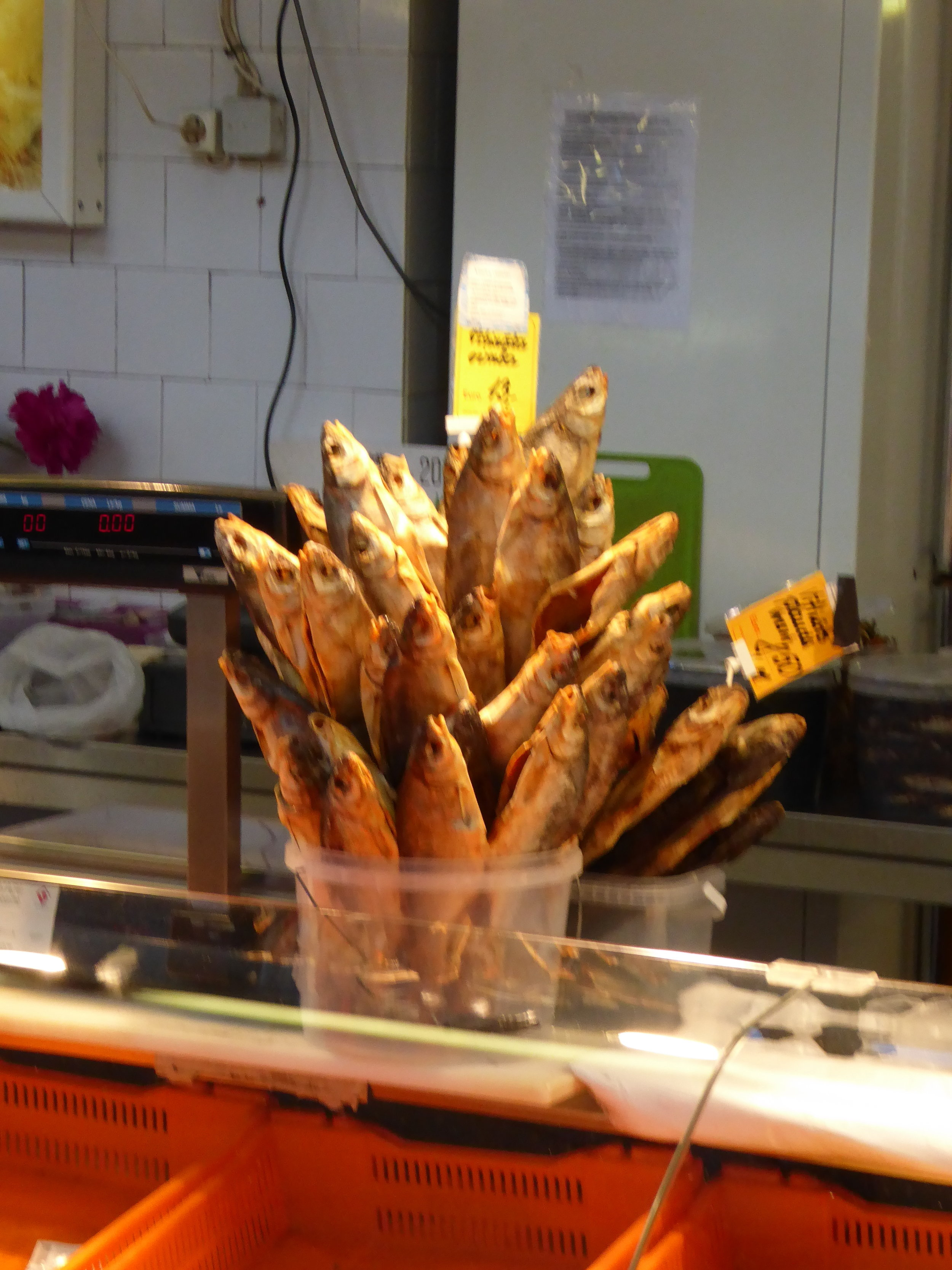 Buyer beware when you order the fish sticks at the public market.