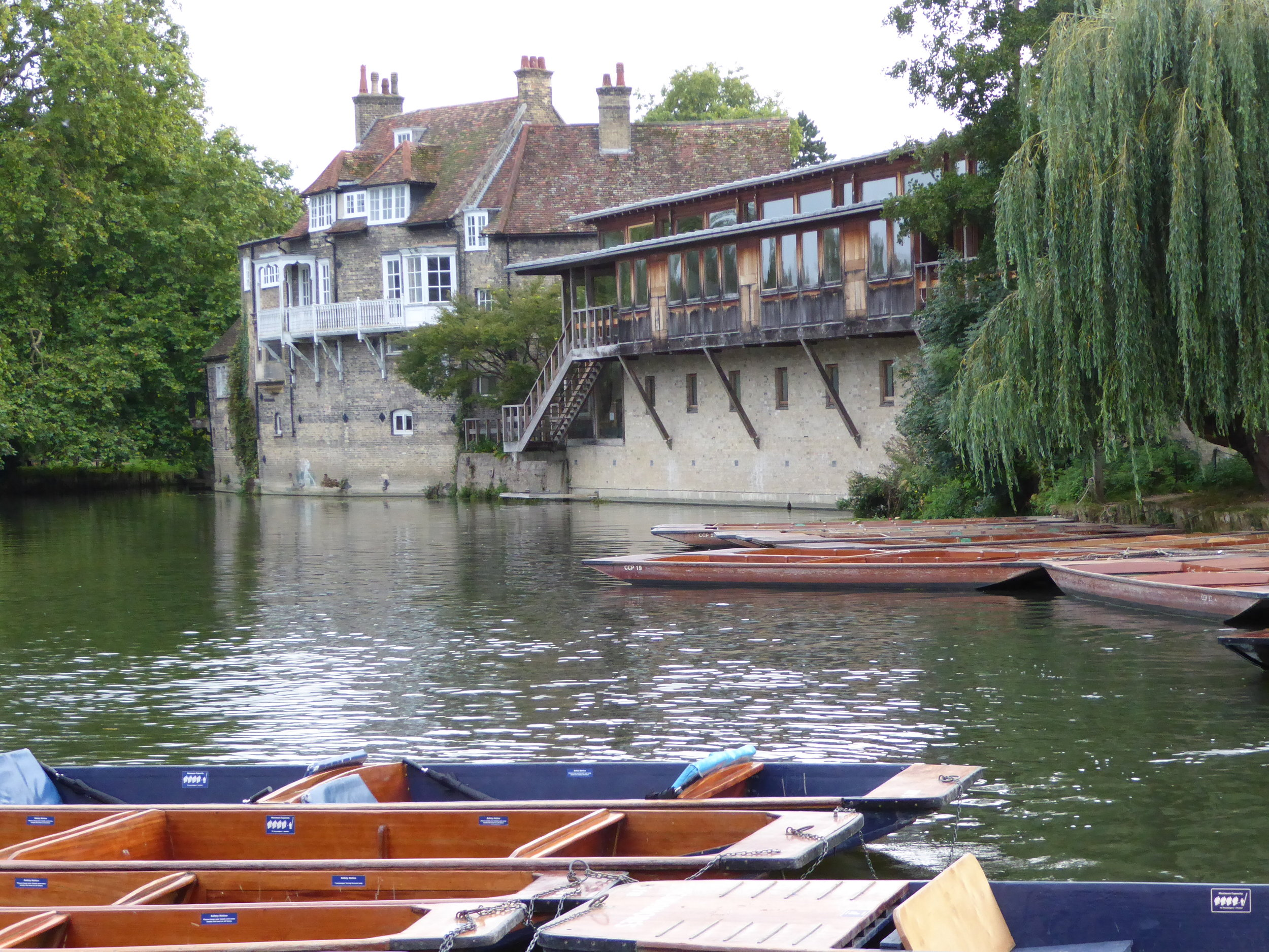 Punting on the River Cam through Cambridge--a great way to see the backyards of the colleges.