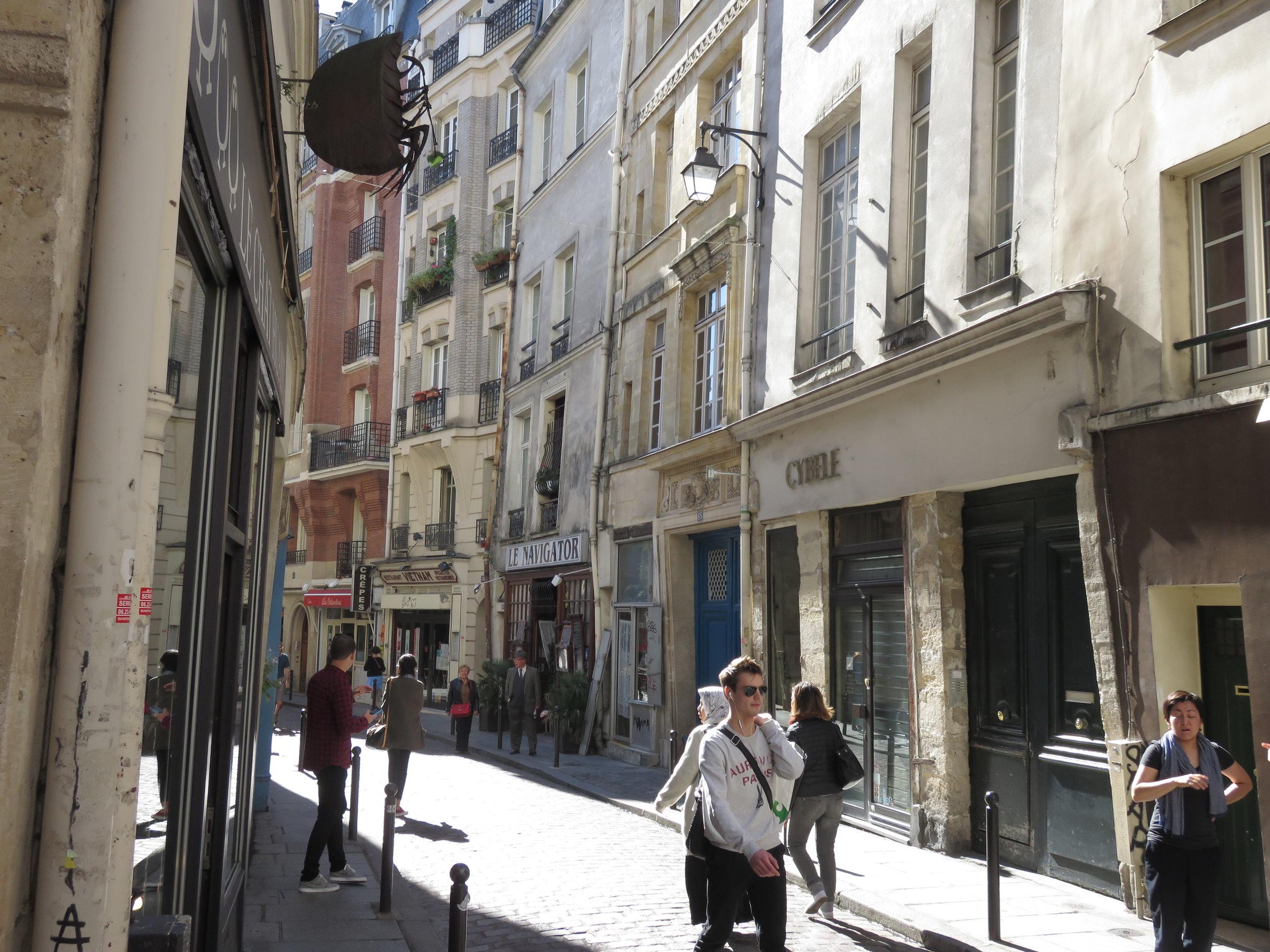 A typical Parisian neighborhood side street