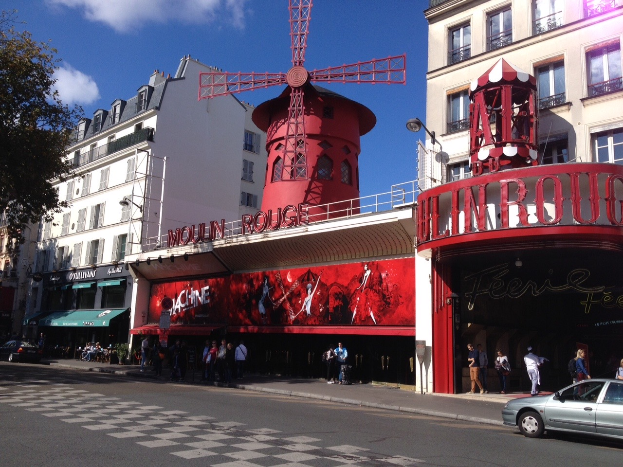 The iconic Moulin Rouge...a bit seedy and tired looking these days, but many good kabob shops in the neighborhood.
