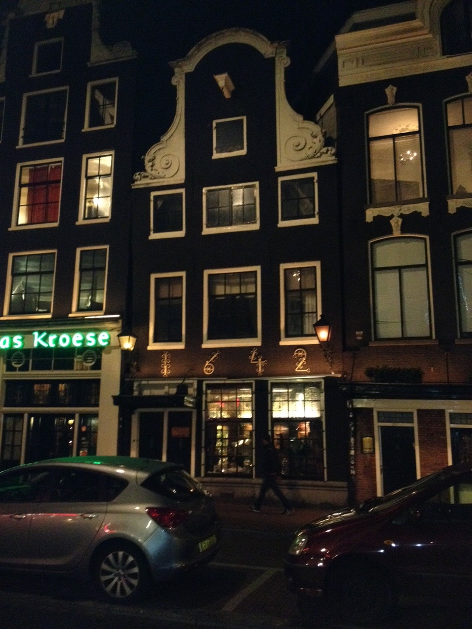 Across the street from our Rijsttafel restaurant. We marvel at how old these buildings are.