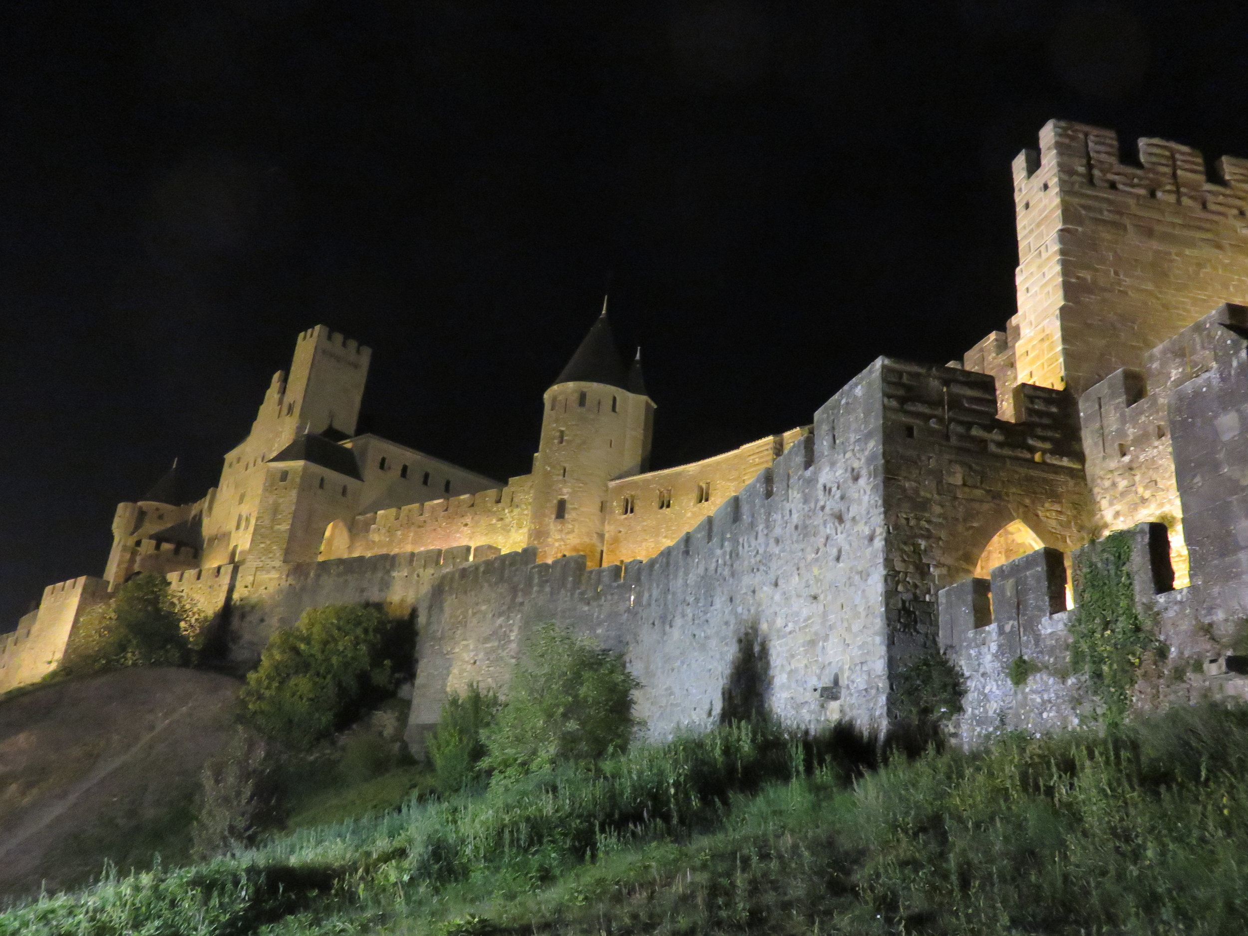 Hilltop castle-fortress at Carcassonne.