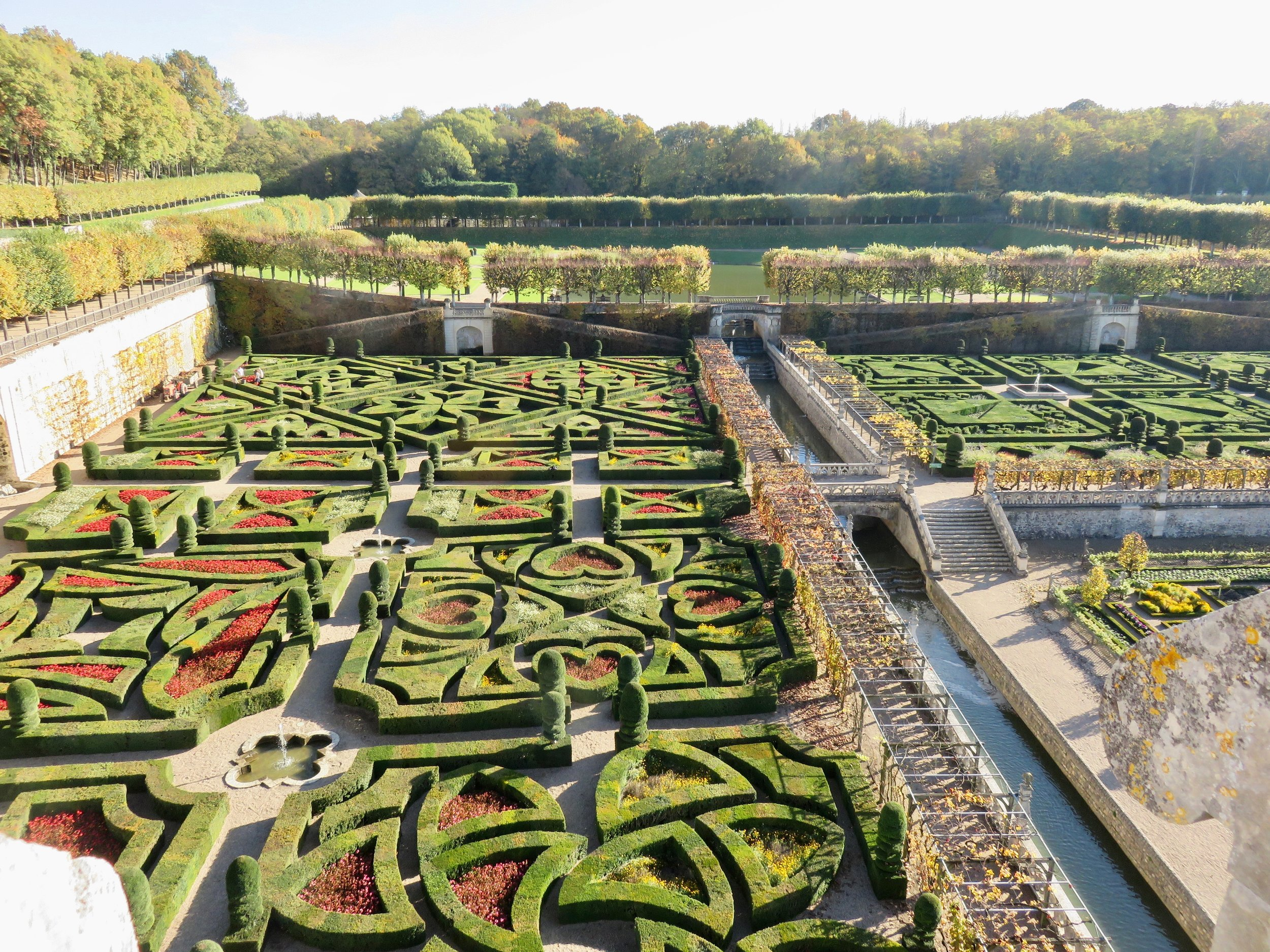 These wild gardens at Château De Villandry go on and on. They also include several vegatable gardens.