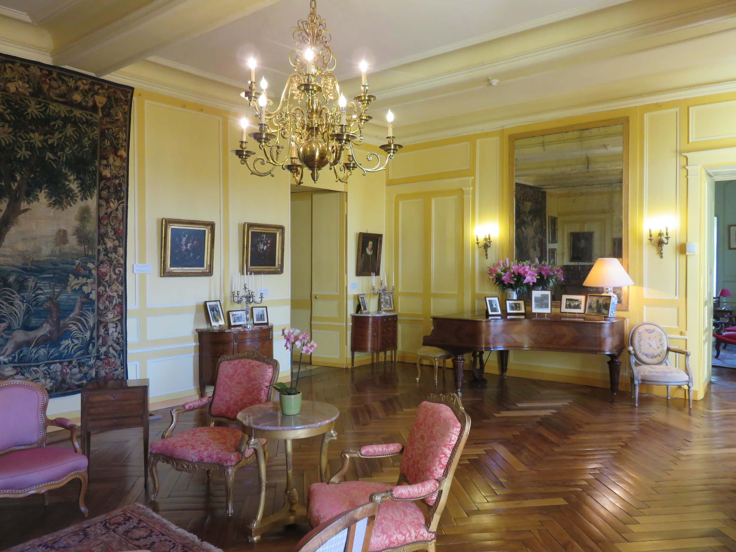 This chateau was actually occupied, though open to the public. It gives us a better sense of what it is like as a living space rather than just a museum.