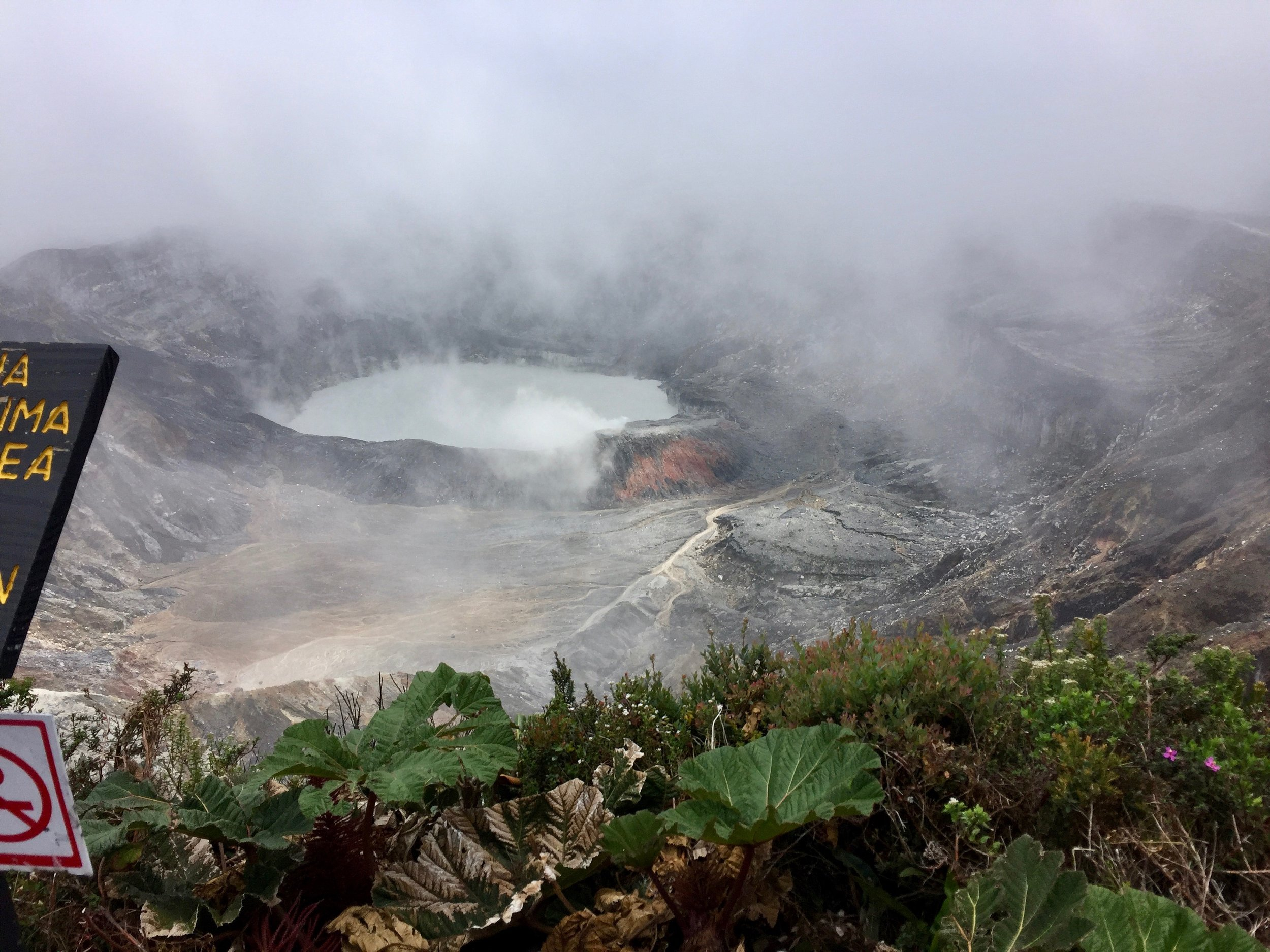 We had to include this shot looking down into the volcano at Poas since we had waited close to an hour for the clouds to lift.