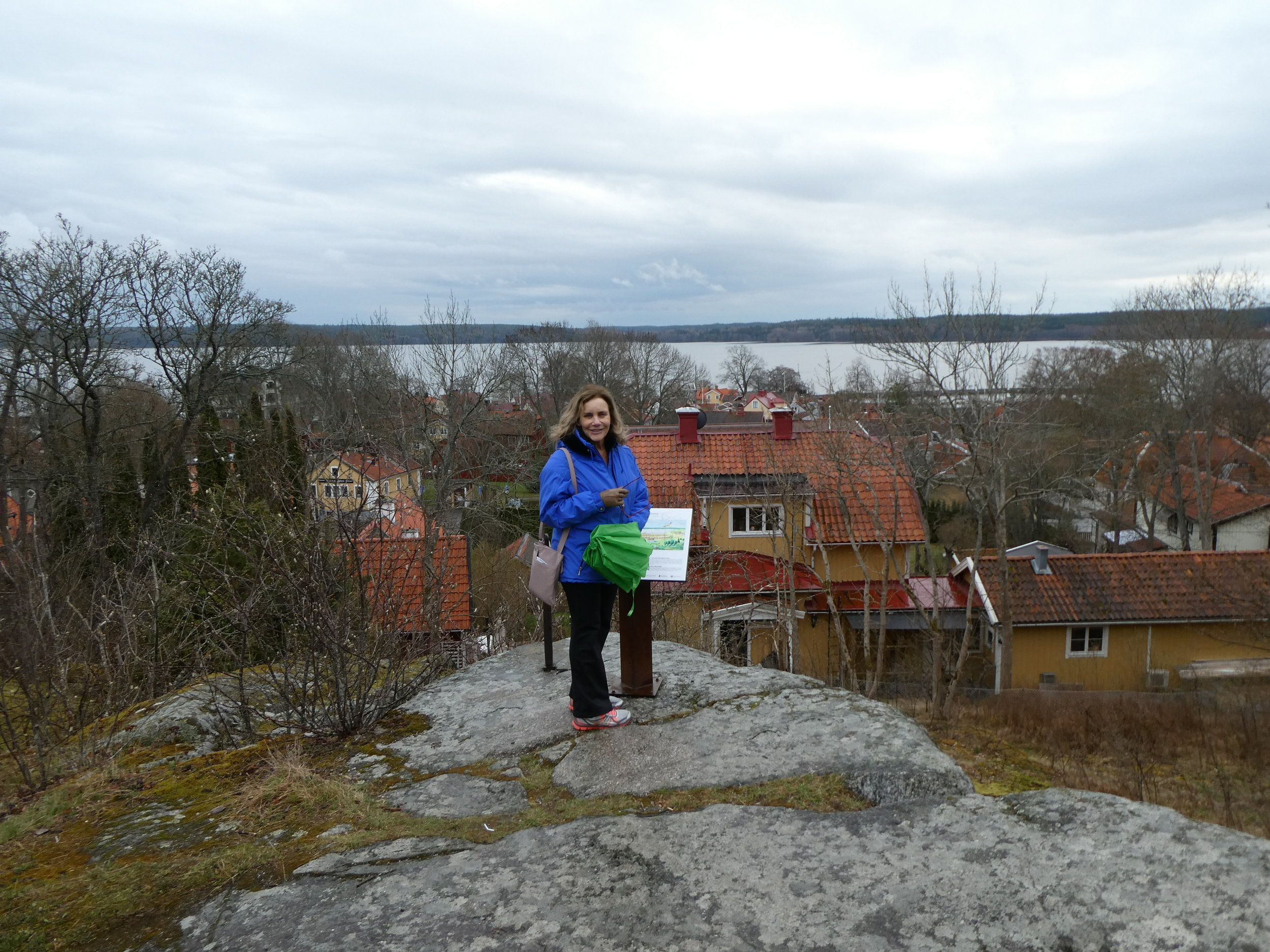 Overlooking the lake from a viewpoint above Sigtuna.