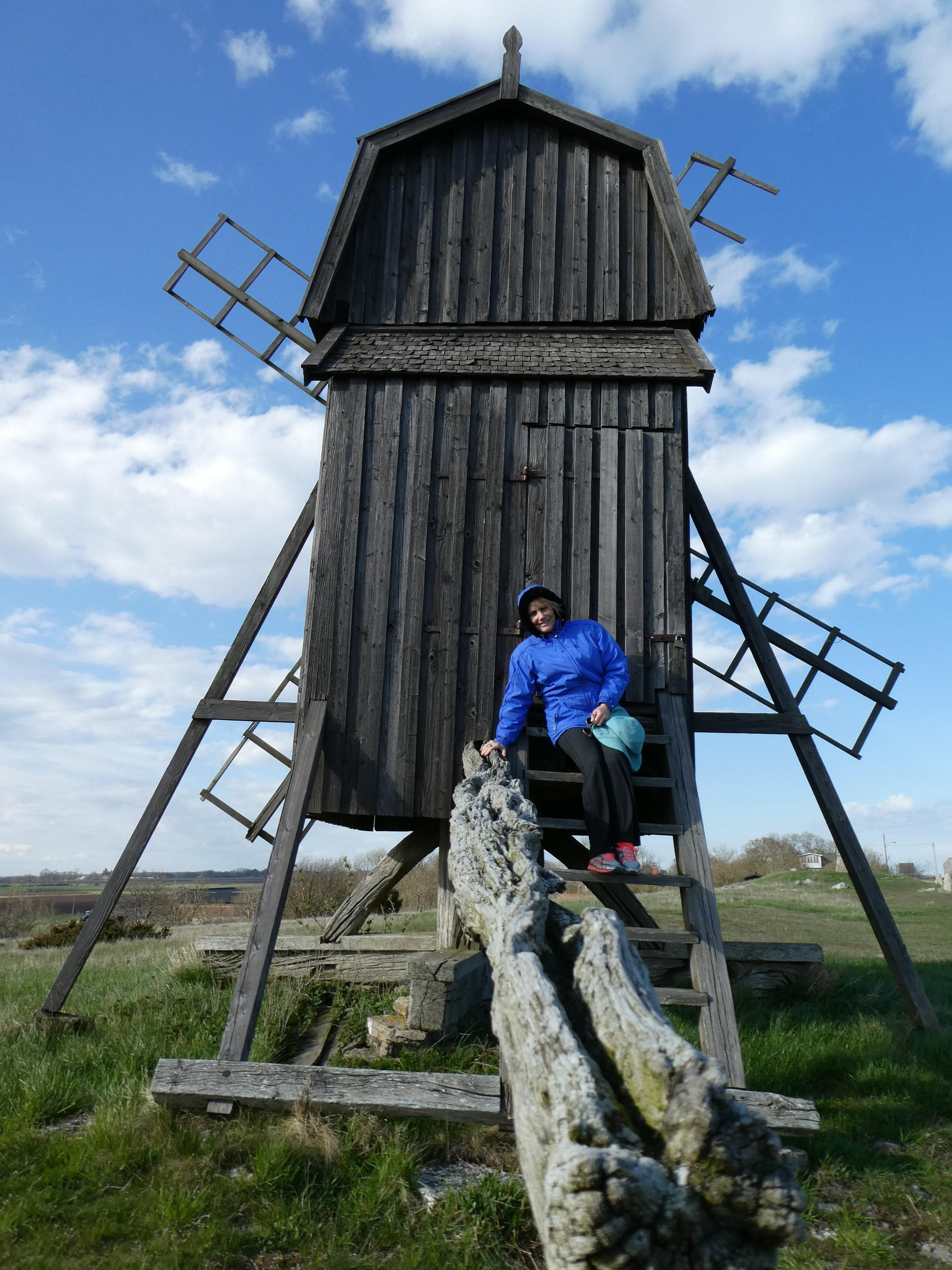 Windmills dot the island of Öland outside of Kalmar.