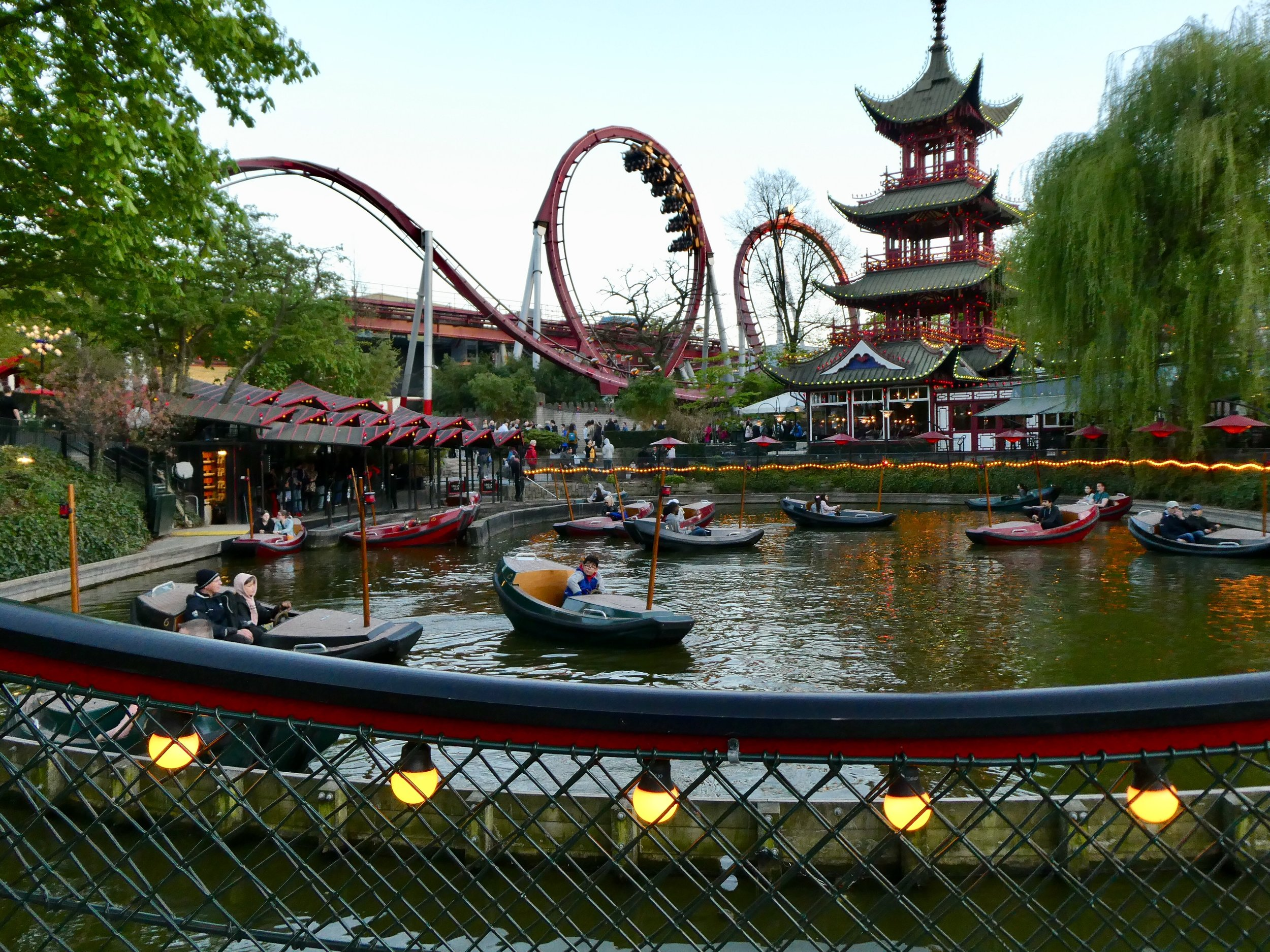 Tivoli and its well-tended gardens.