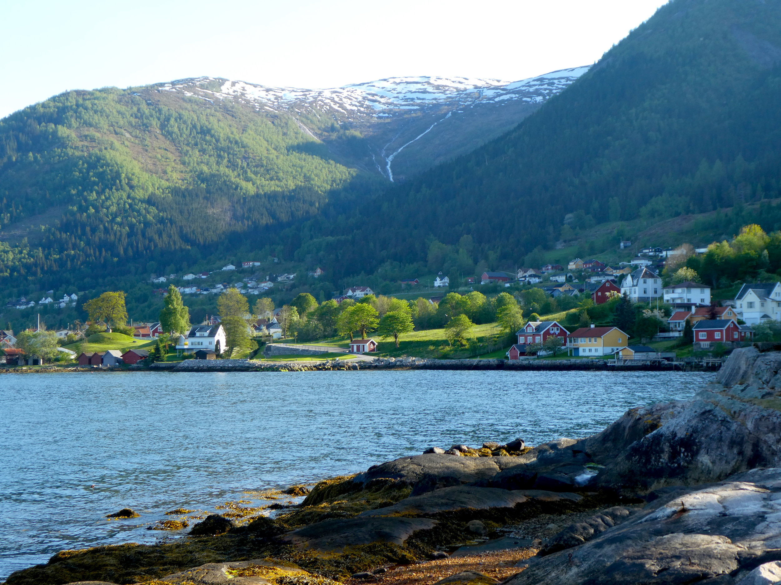 Leaving Bergen, we drive a few hours north then ferry across another fjord for an overnight in the charming village of Balestrand.