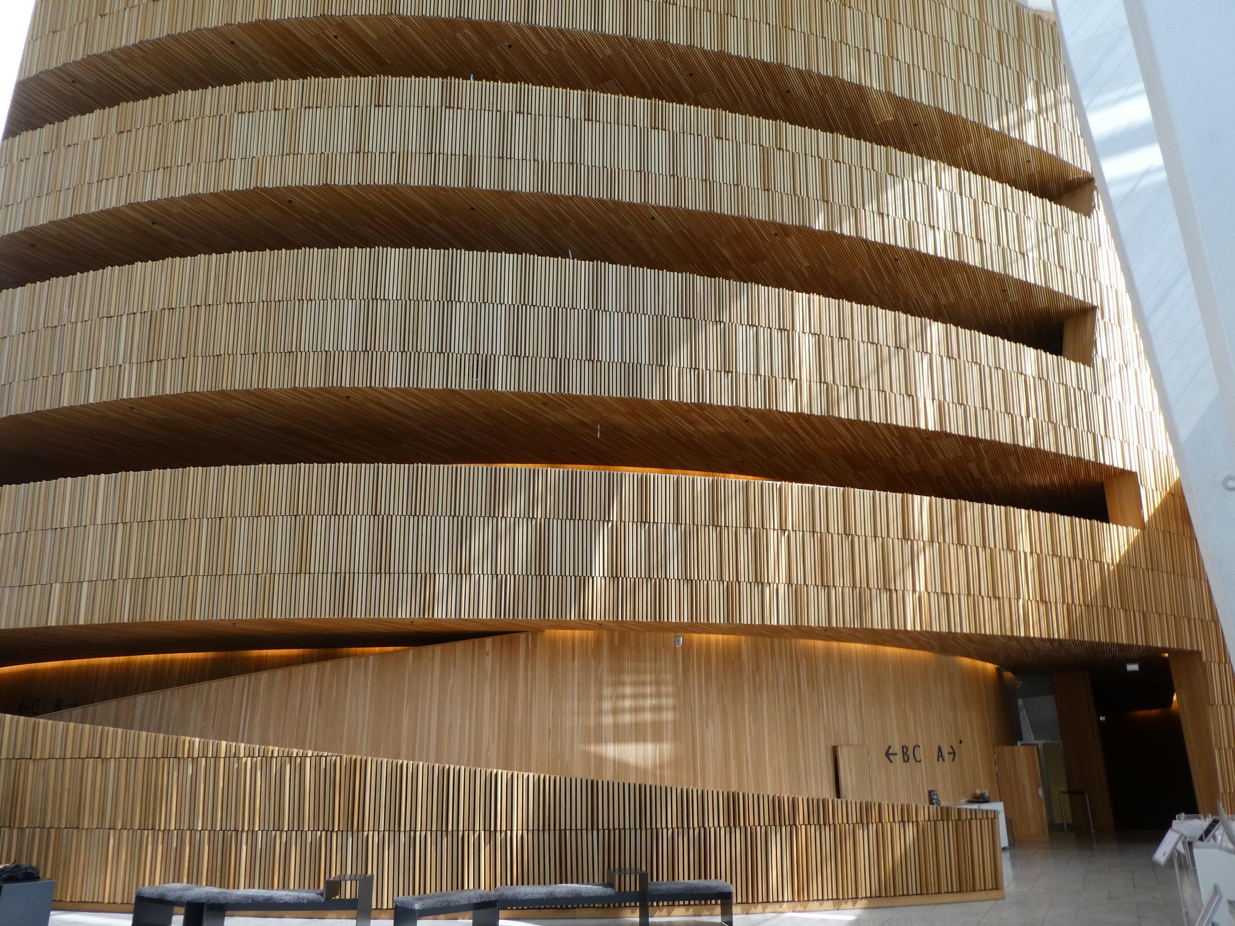 More Norwegian wood at the Oslo Opera House.