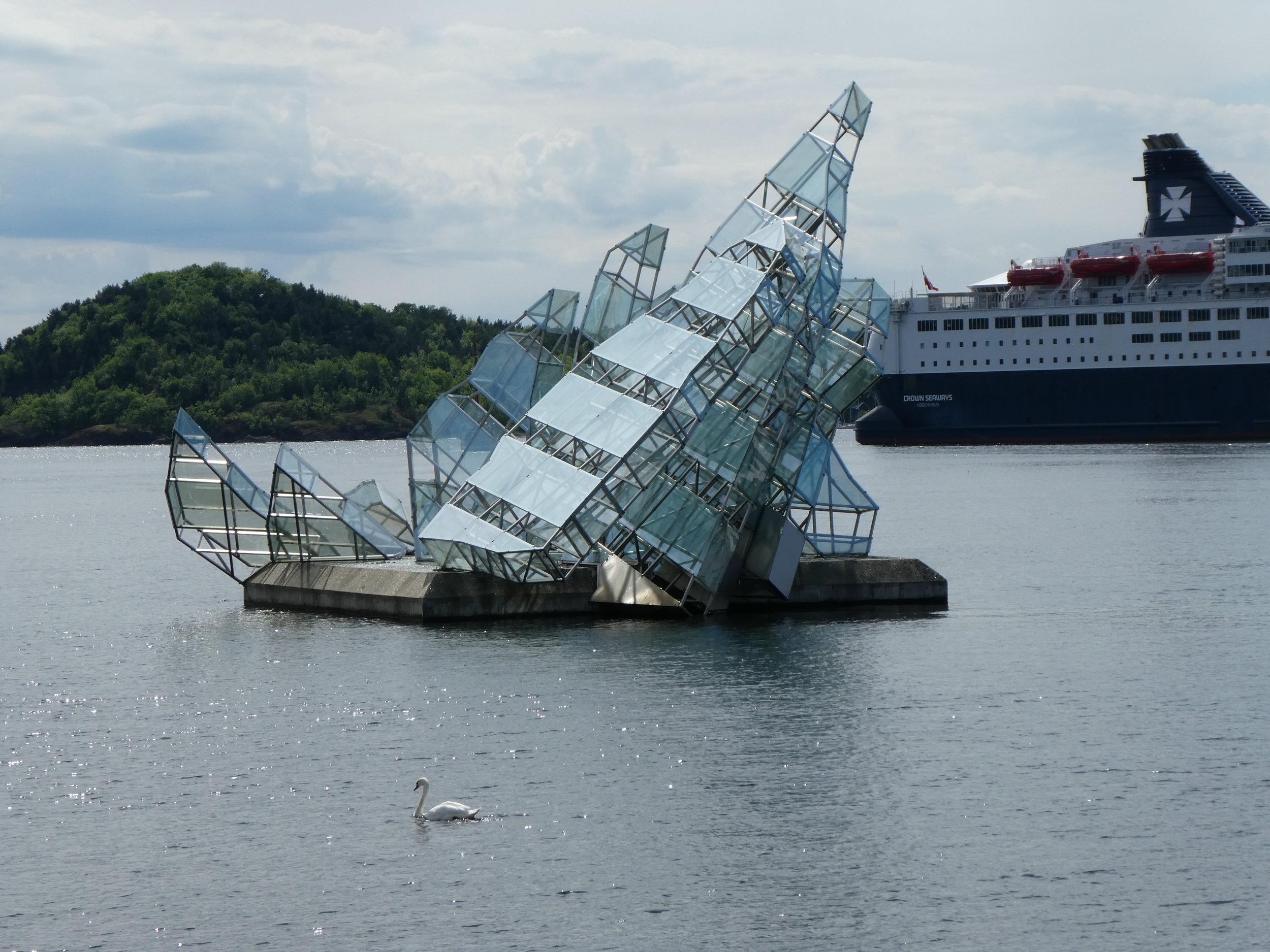Sculpture in the harbor.