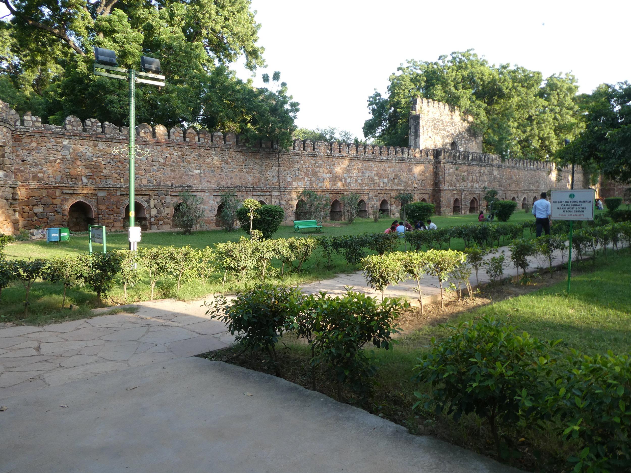 Lodhi Gardens near our hotel in Delhi.
