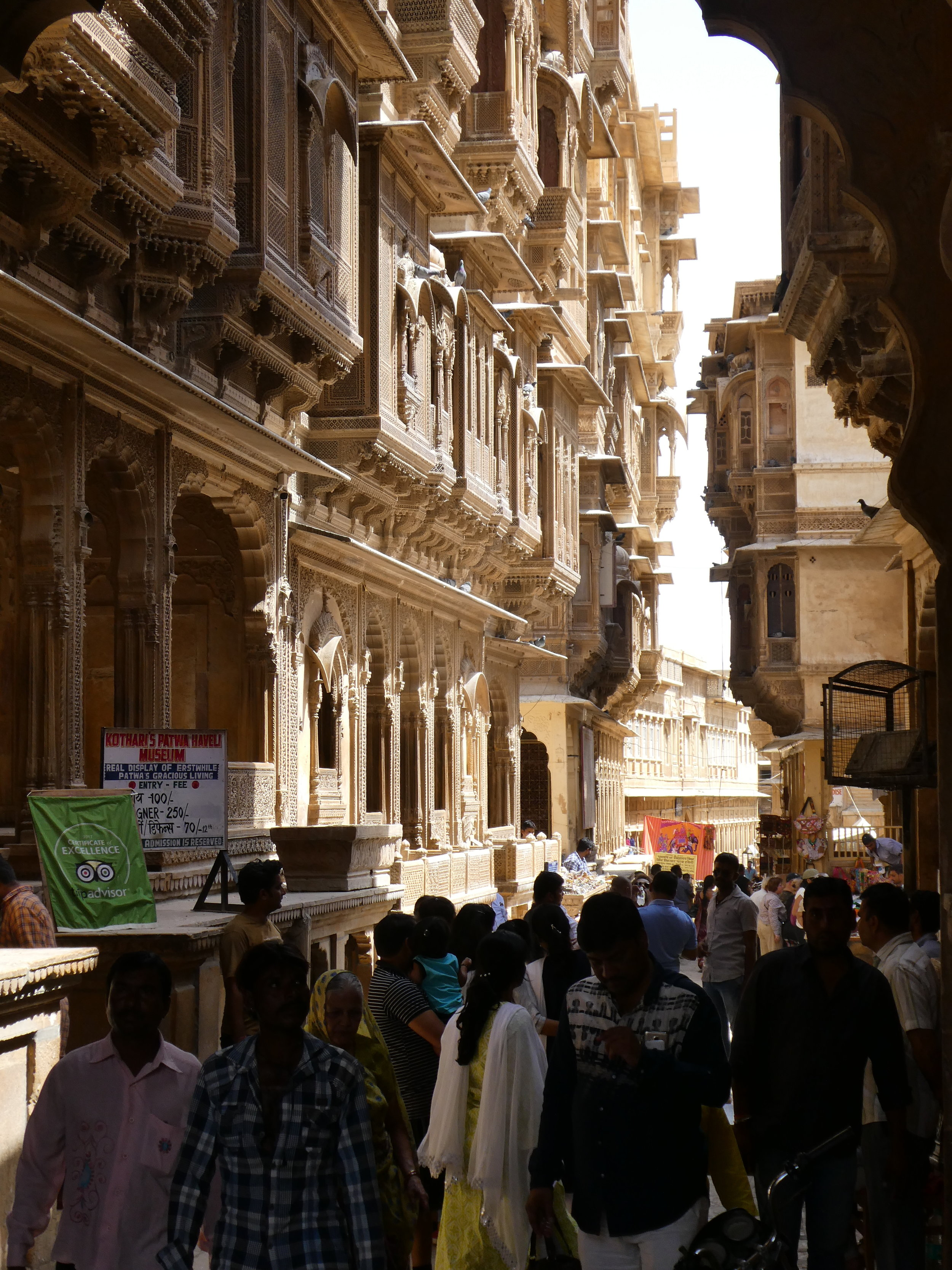 Patwa Haveli in Jaisalmer, a cluster of five mansions built by a wealthy Jain trader and his sons.