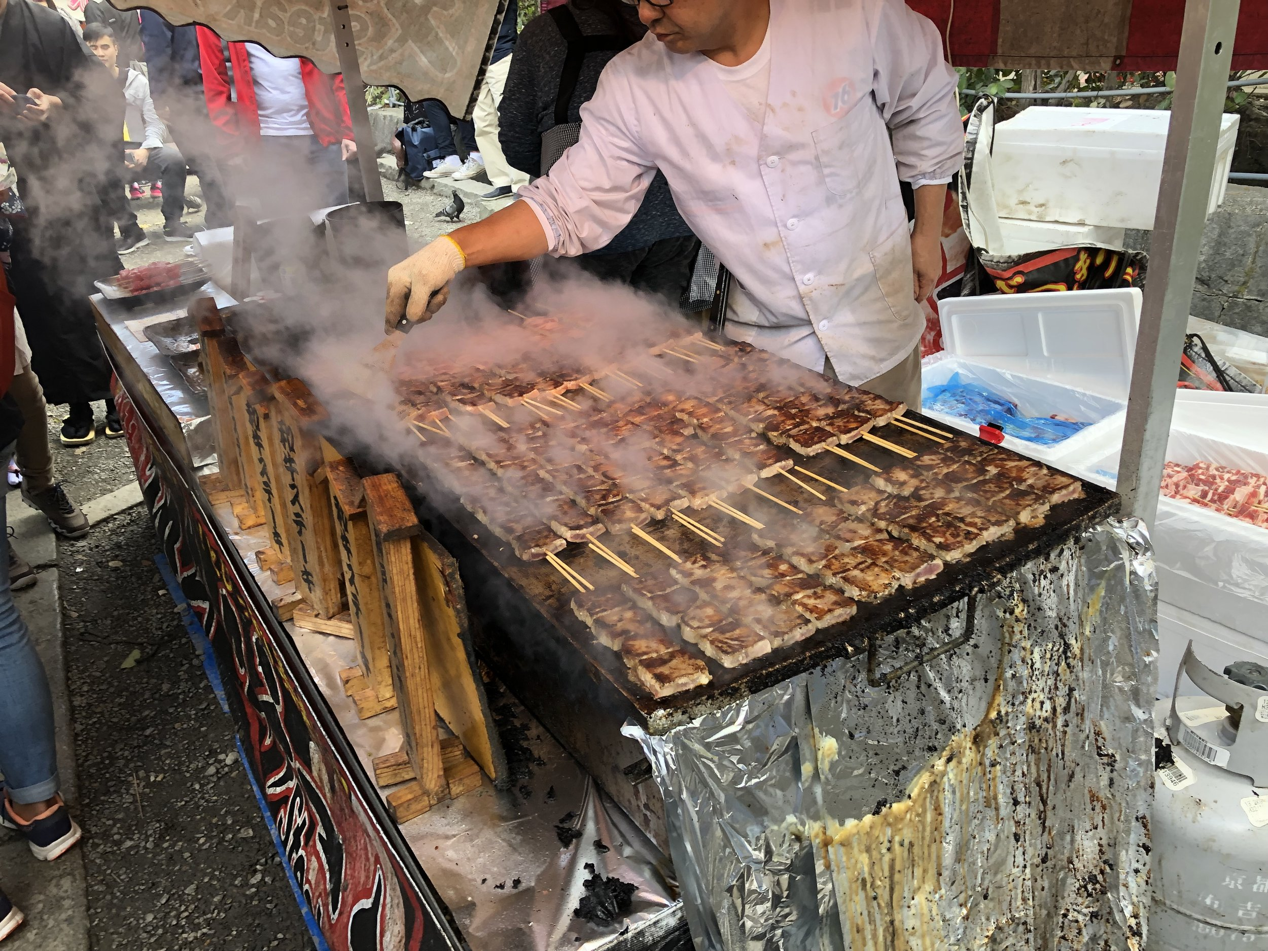 Everywhere we go, people in Japan seem to love their street food.