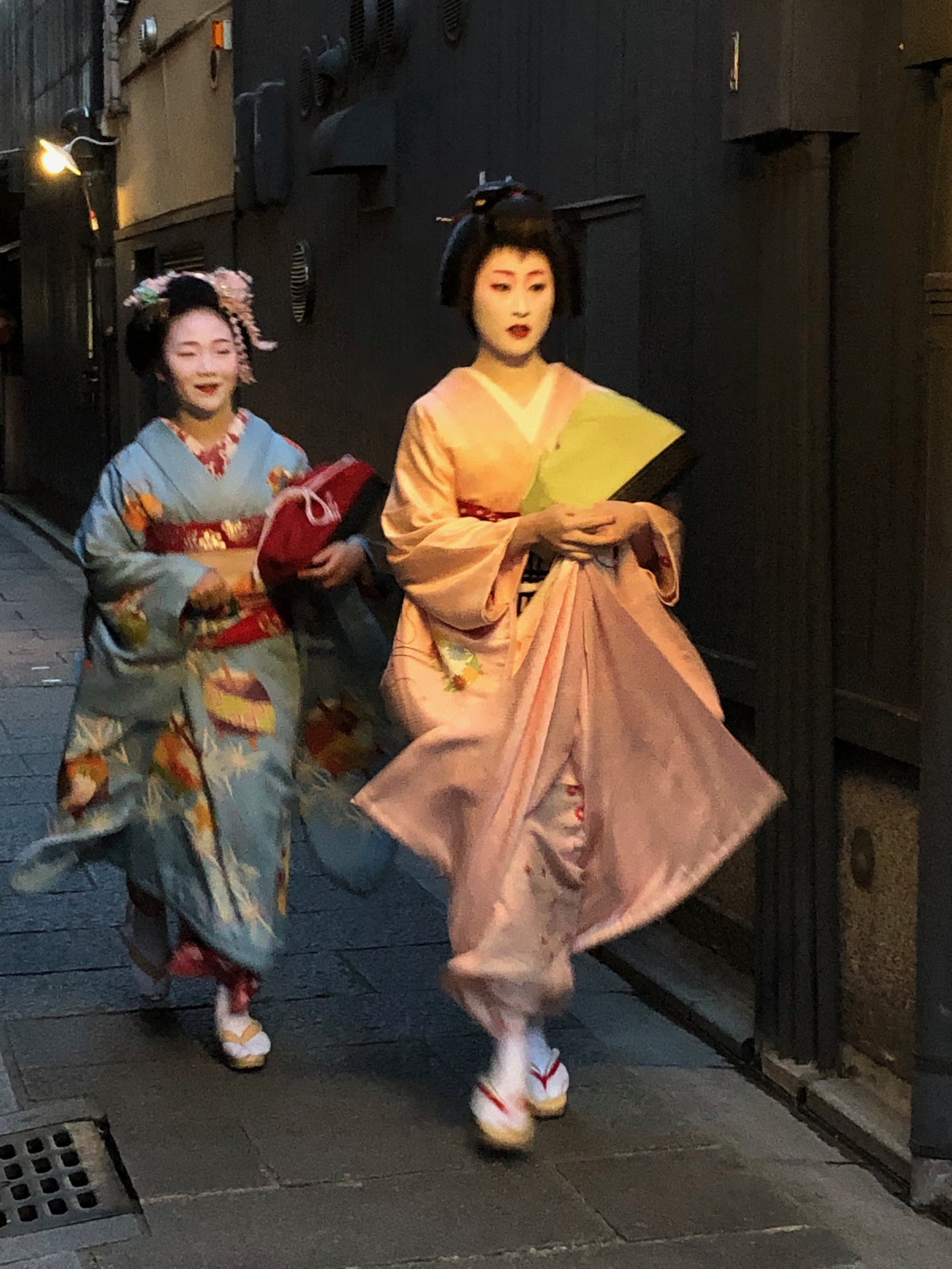 In the geisha district of Kyoto.