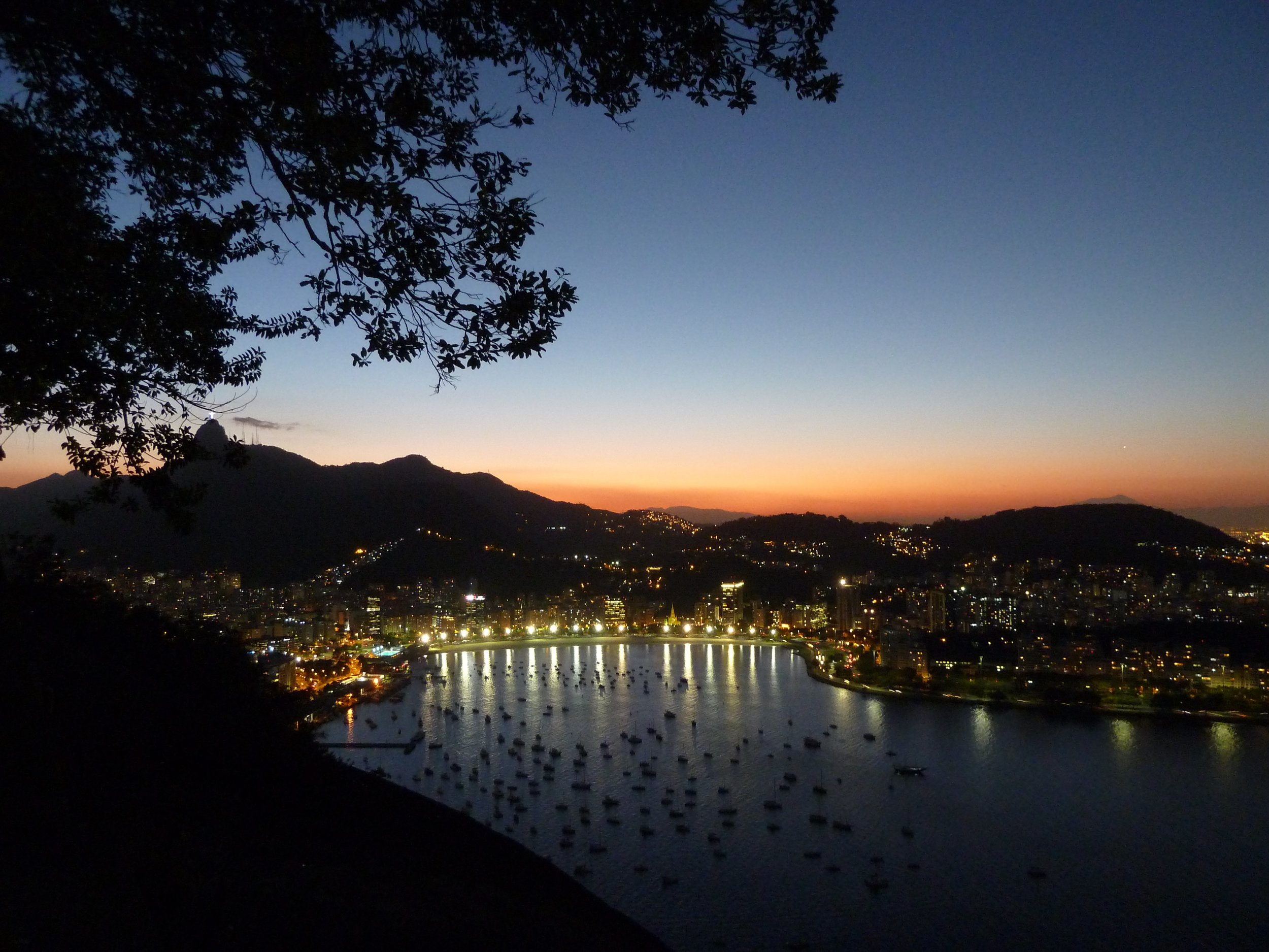 Sunset over Rio de Janeiro, viewed from Sugarloaf Mountain