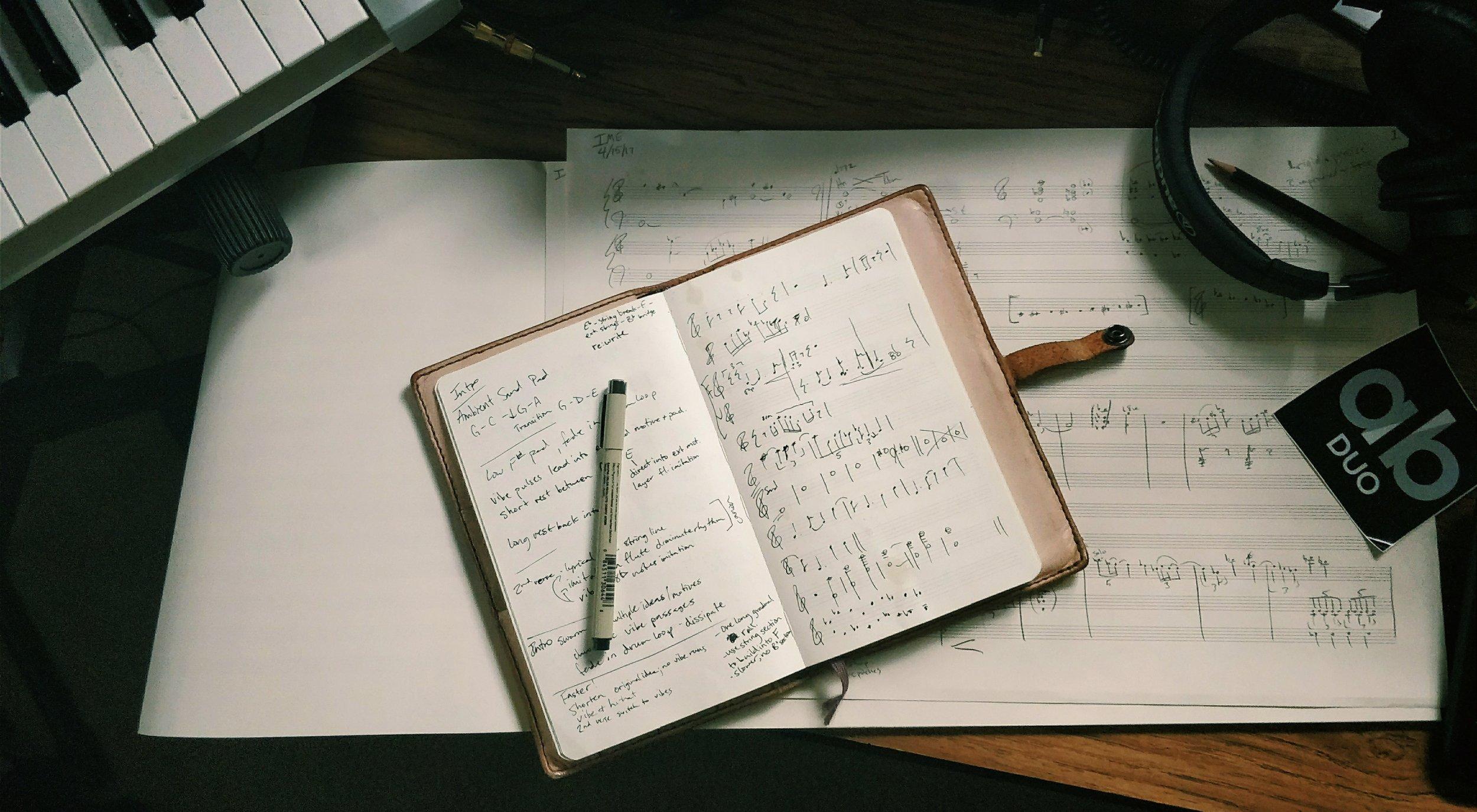 Original sketches for re:Write.