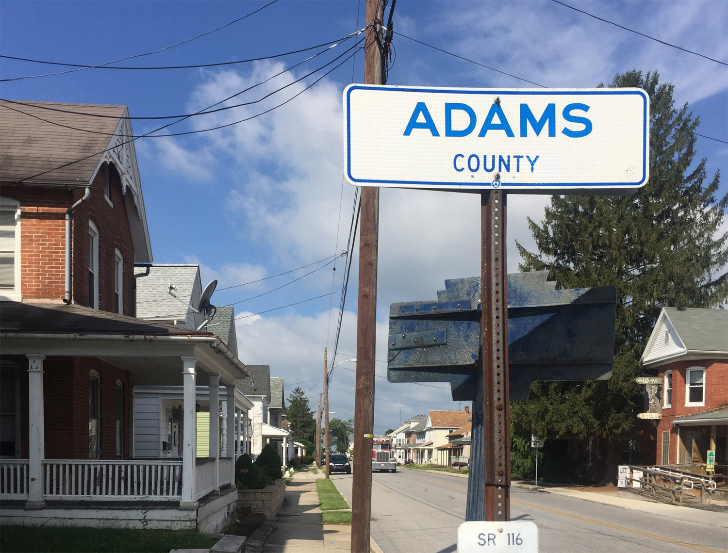 Entering Adams County from the York County Line, Pennsylvania