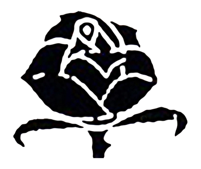 Modified black rose design.