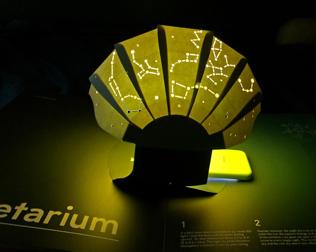 """This Book is a Planetarium"" includes a cellphone-driven.... planetarium!"