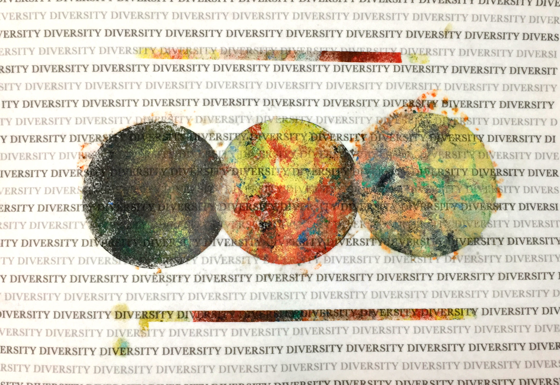 """Diversity"" - Clay Monoprint by Andrew T. Smith"