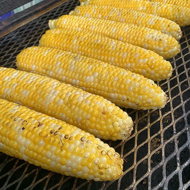 Fresh, local corn for lunch today. A summer classic.  #Food #foodphotography #summer #summerfood #grill #grilling #vegetables
