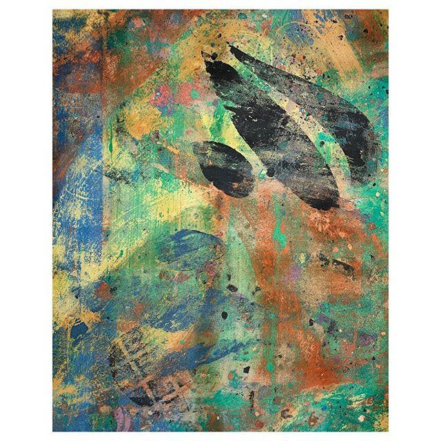 """Flights of Fancy"" Clay Monoprint 16x20 Andrew T Smith/Visual Realia  #print #monoprint #clay #claymonoprint #art #contemporaryart #printmaking #abstractart #gettysburg #gettysburgart #nonobjective #fabricart #color #form #modernart #contemporaryartist #artroomsapp  #717creative"