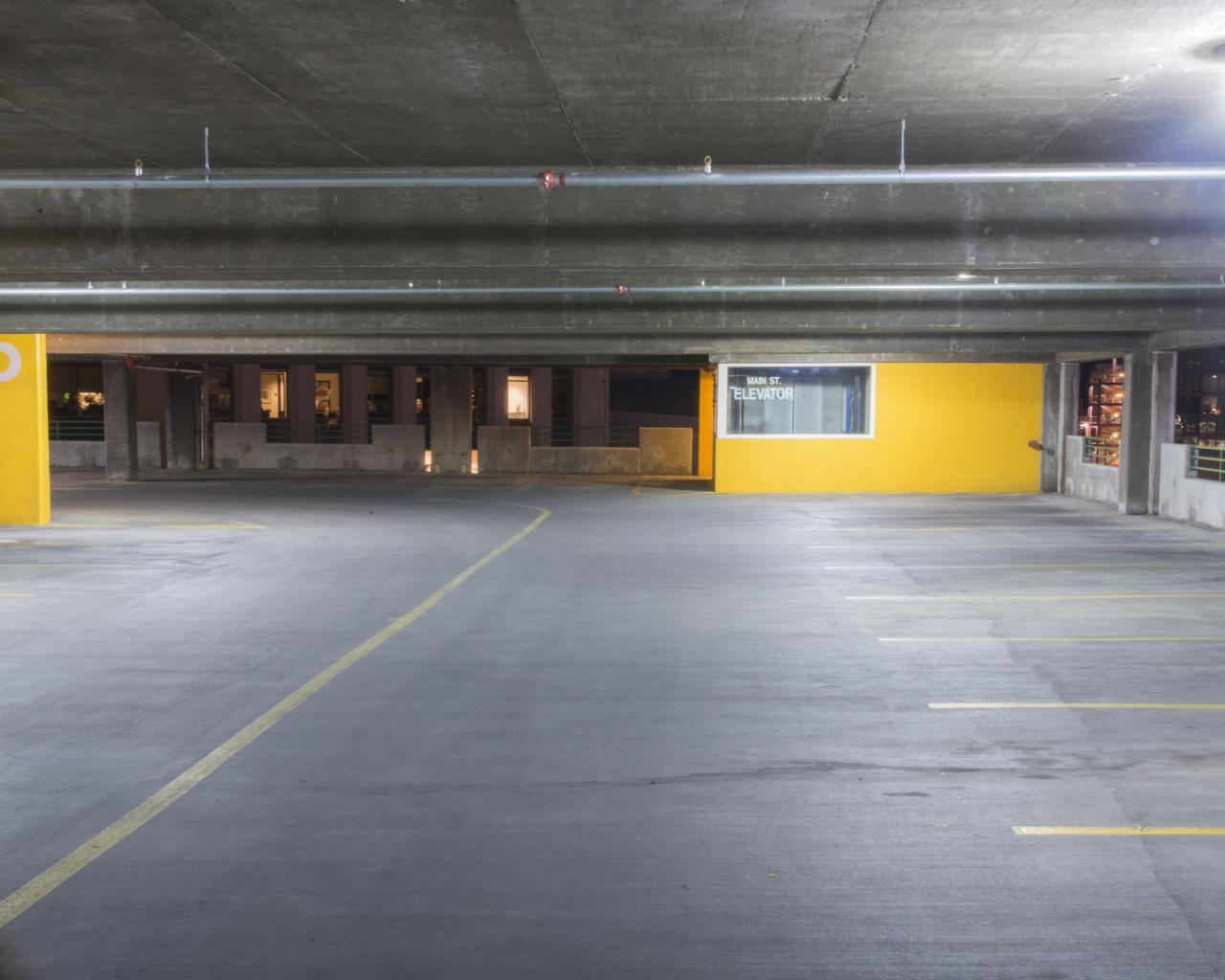 Empty Garage Yellow