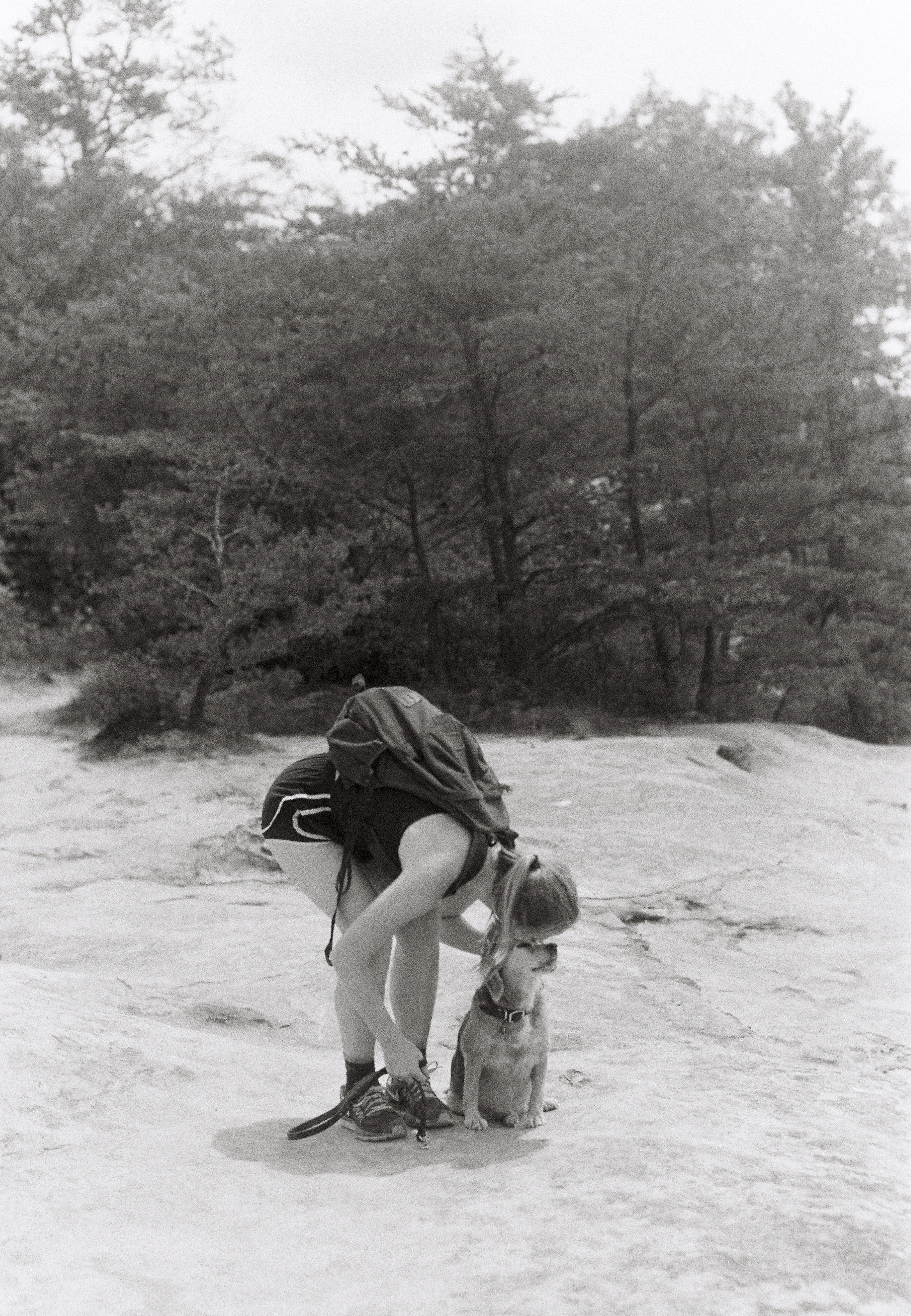 Casey kisses Bree on top of Courthouse Rock after a 2.5 mile hike in the Red River Gorge. Slade, Ky.
