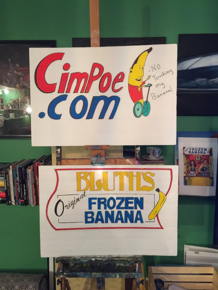 Cimpoe Gallery Banana Stand Signs