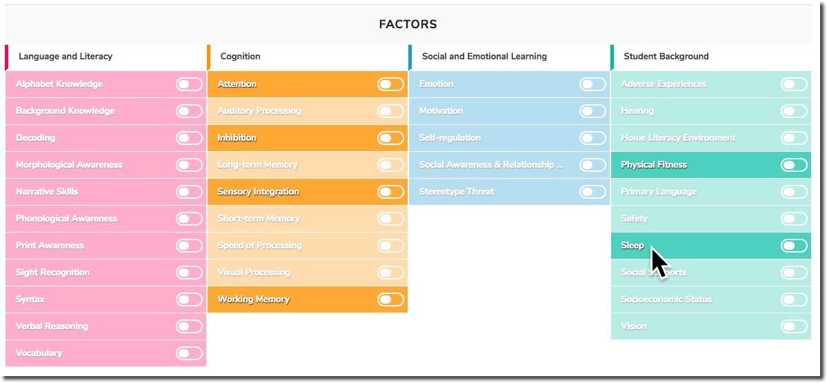 Screenshot of Digital Promise's New Learner Positioning System (LPS) Platform