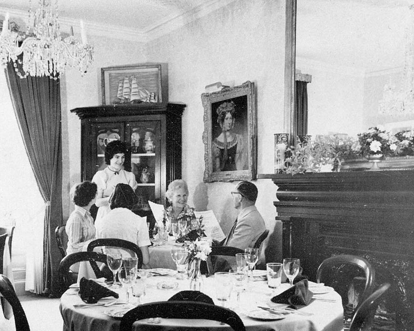 Inside the Marie Dressler House Restaurant (former living room of the original residence)   Photograph  Date Unknown  Marie Dressler Foundation Collection