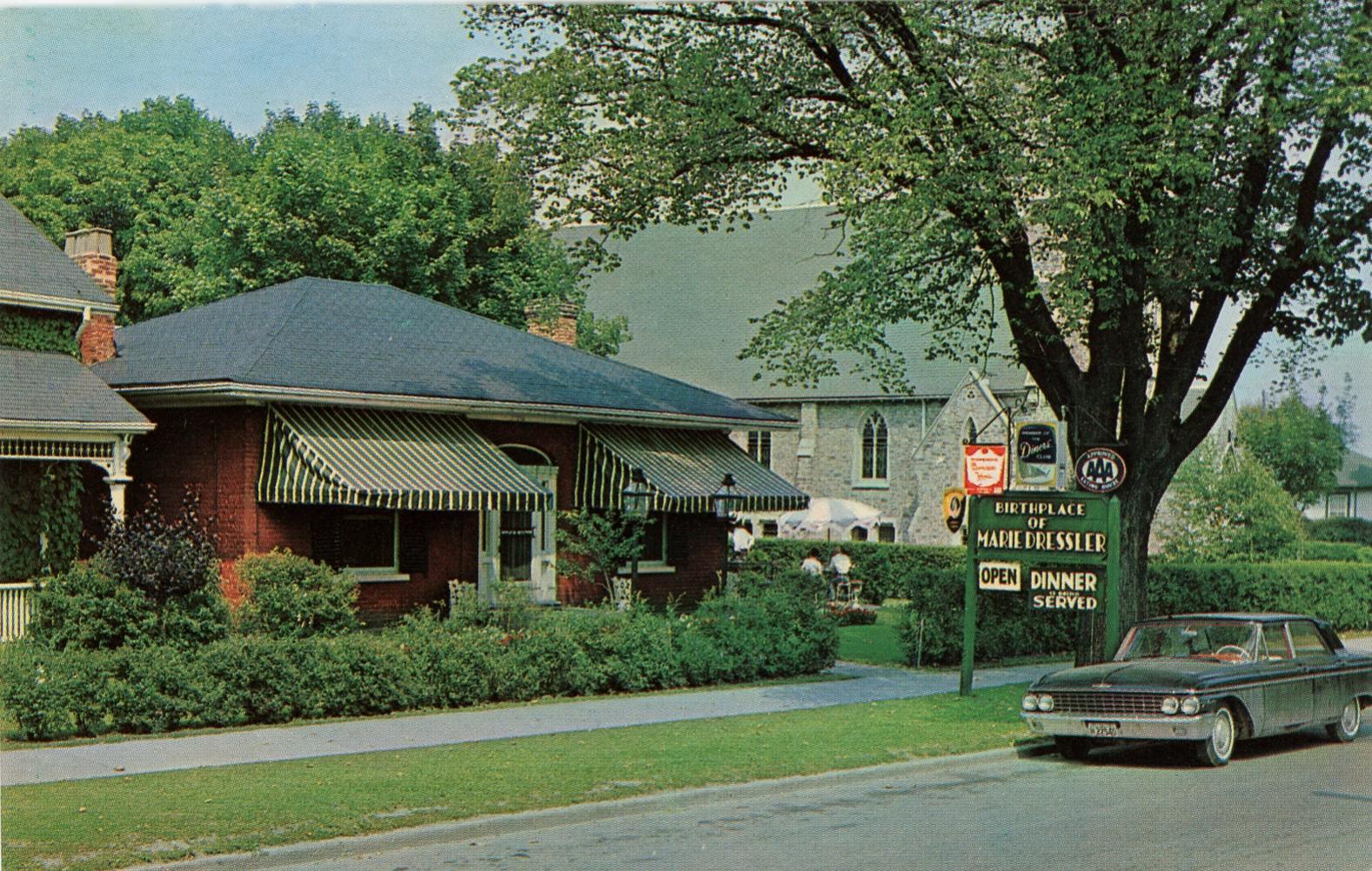 Exterior of Marie Dressler House Restaurant   Postcard  c. 1970's  Marie Dressler Foundation collection