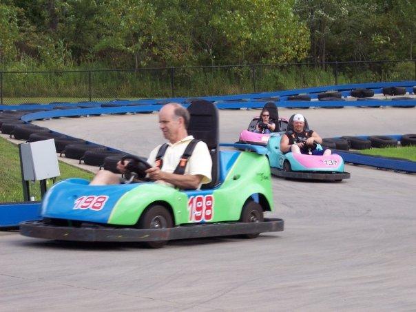 Mini car racing at Adventure Park