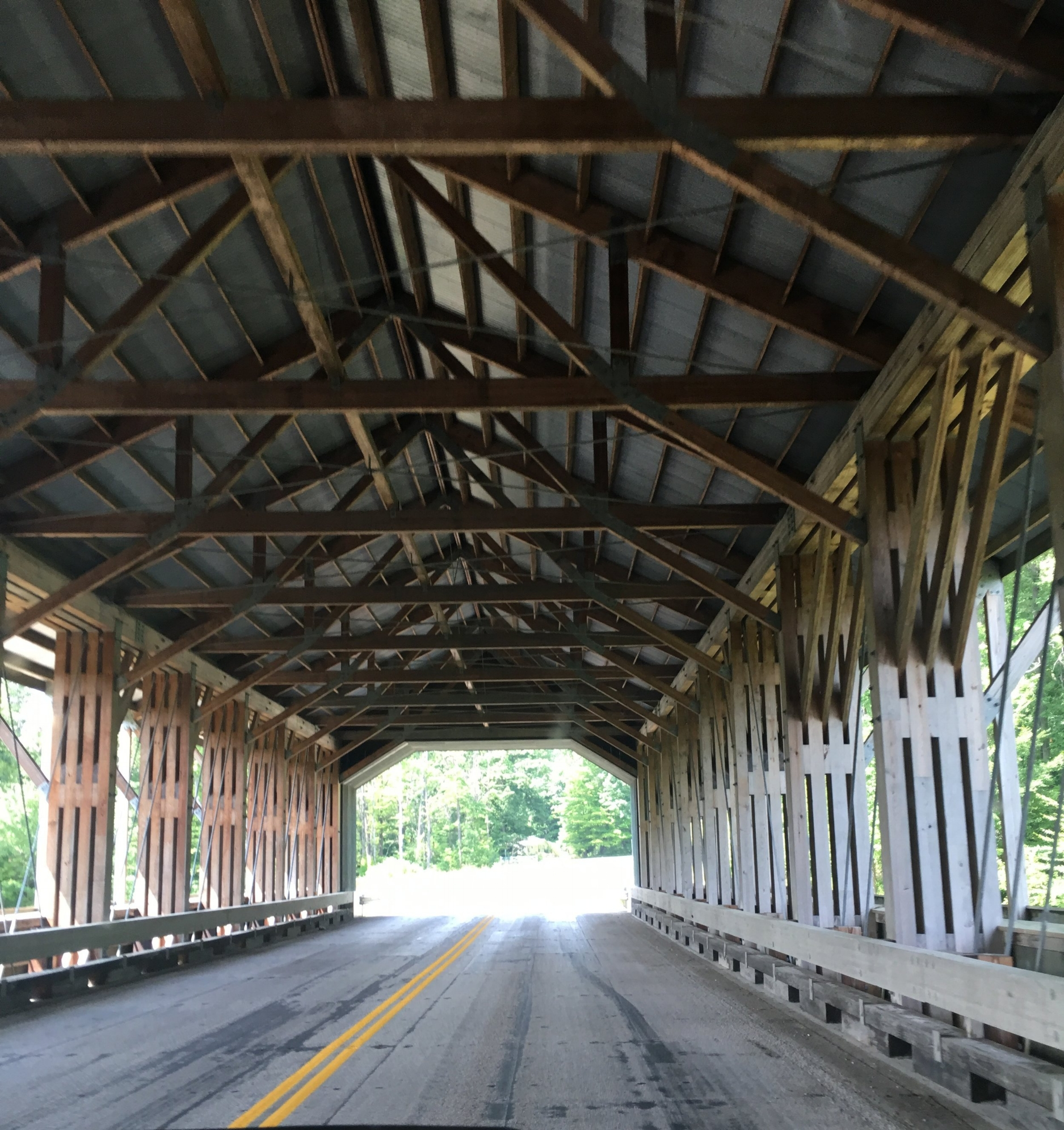 Inside Harpersfield Bridge