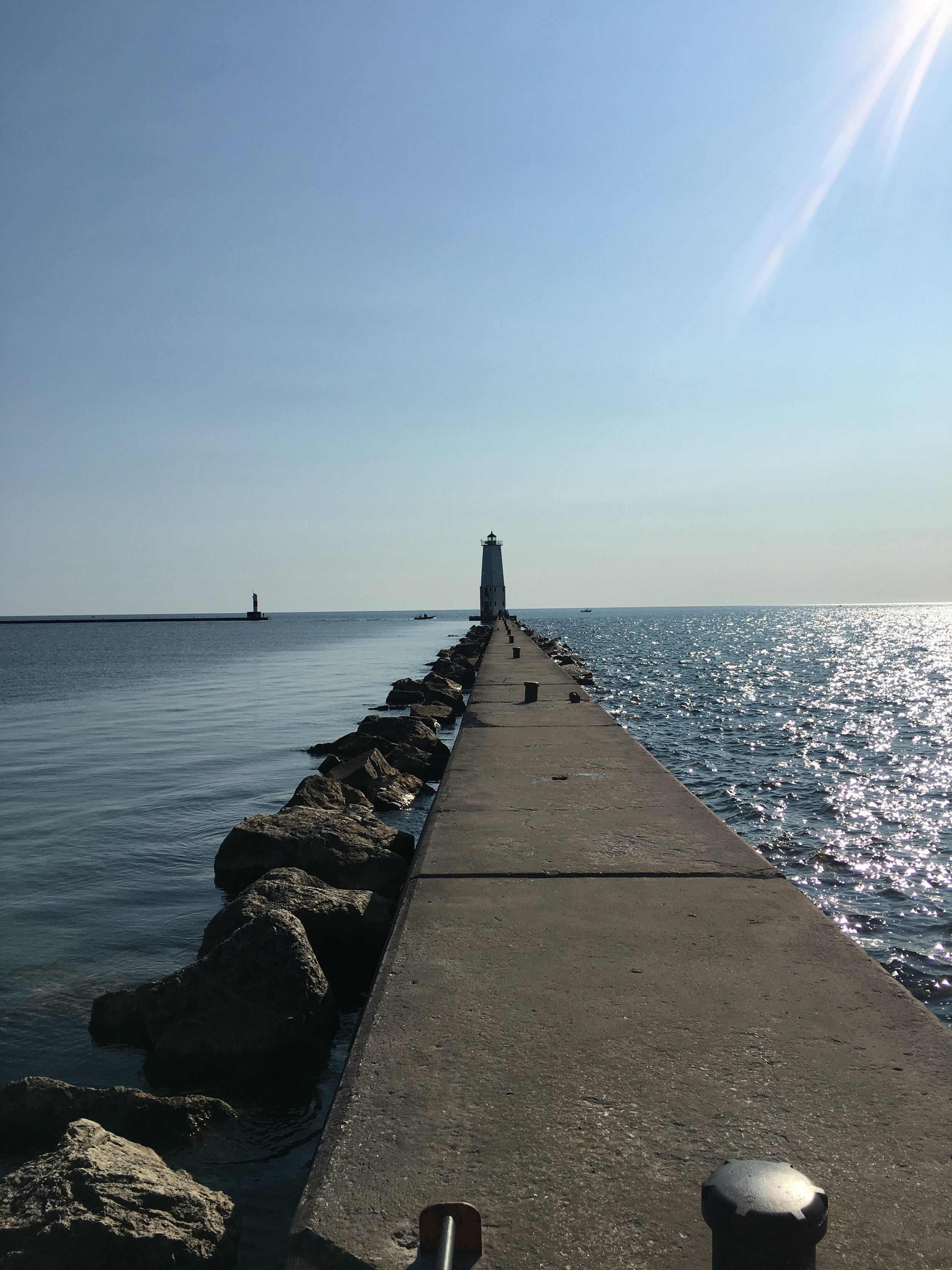 Frankfort, MI lighthouse and breakwall