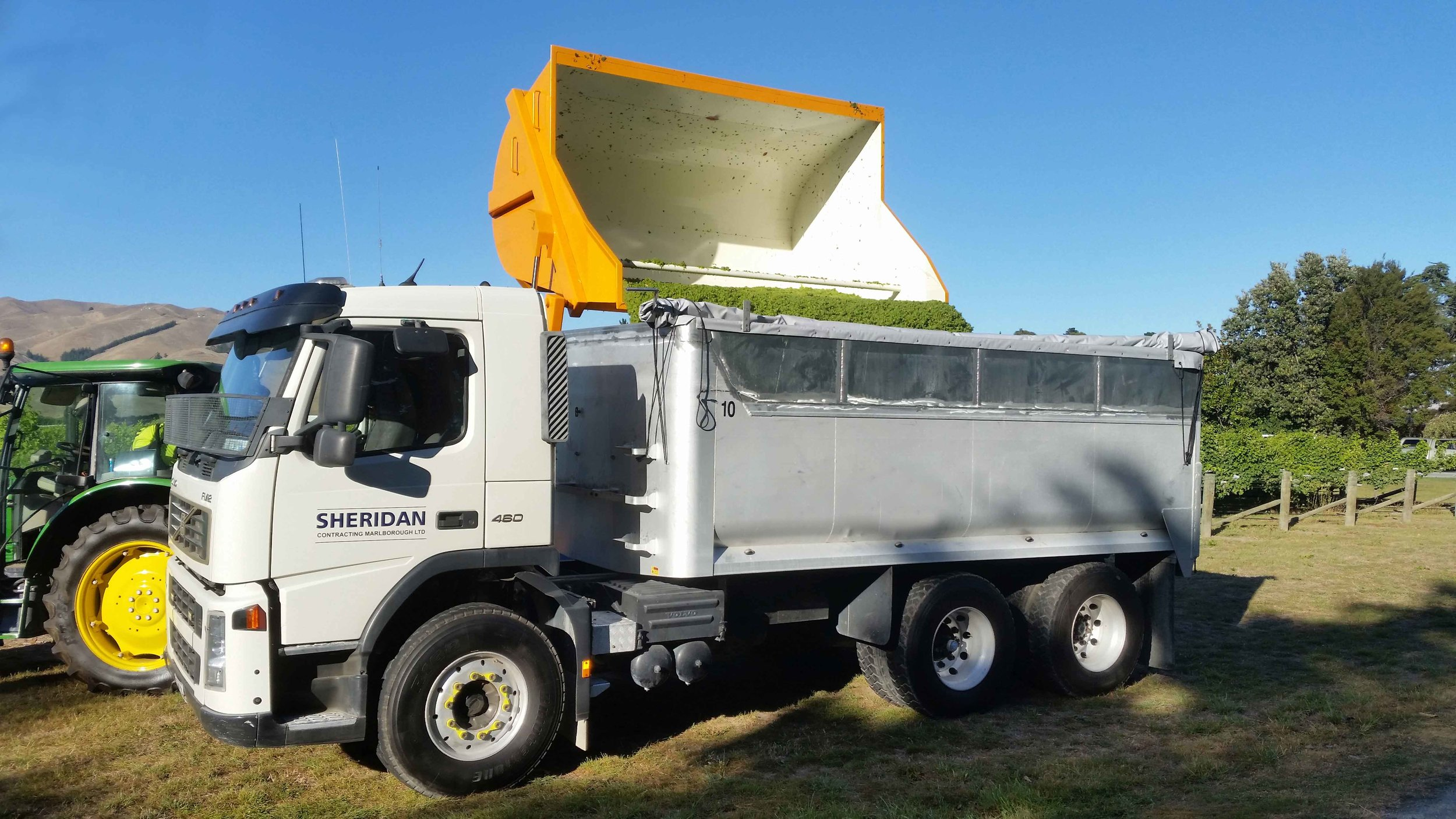 Timely Vineyard Harvesting - We offer total harvest coordination working 24 hours, 7 days using a modern well maintained fleet of Pellenc Harvesters remove crop at the optimum time and timely delivery of crop to wineries.