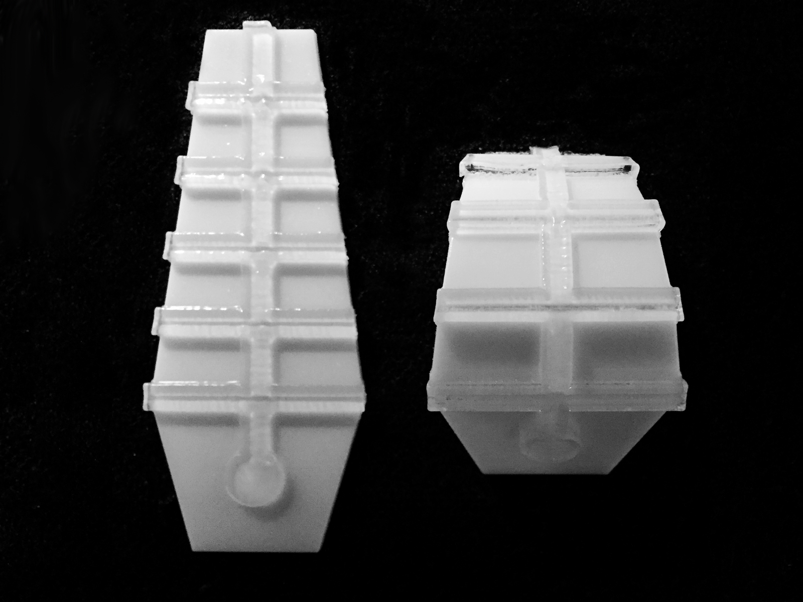 3D printed swellable polymer fins