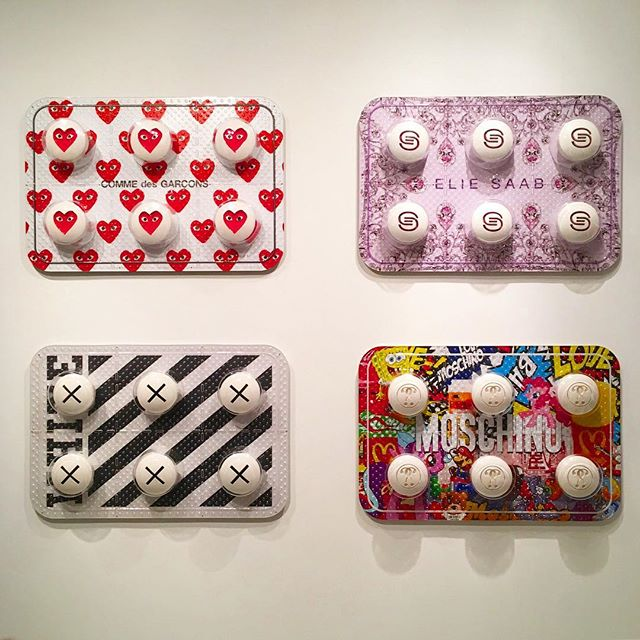 Designer Drugs Please . . . . . . @desireobtaincherish  #fashionfix #moschino #elliesaab #offwhite #commedesgarcons #VIP #preview #artbasel #artmiami #artbasel #fashion #style #sculpture